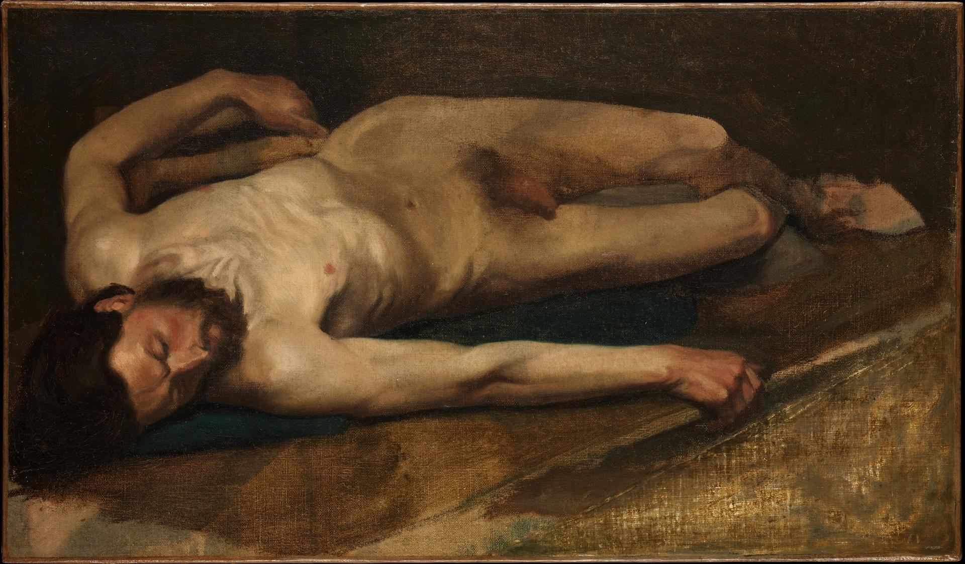 """A pornographic video that is part of Pornhub's """"Classic Nudes"""" online tours was inspired by Edgar Degas's Male Nude (1856)"""