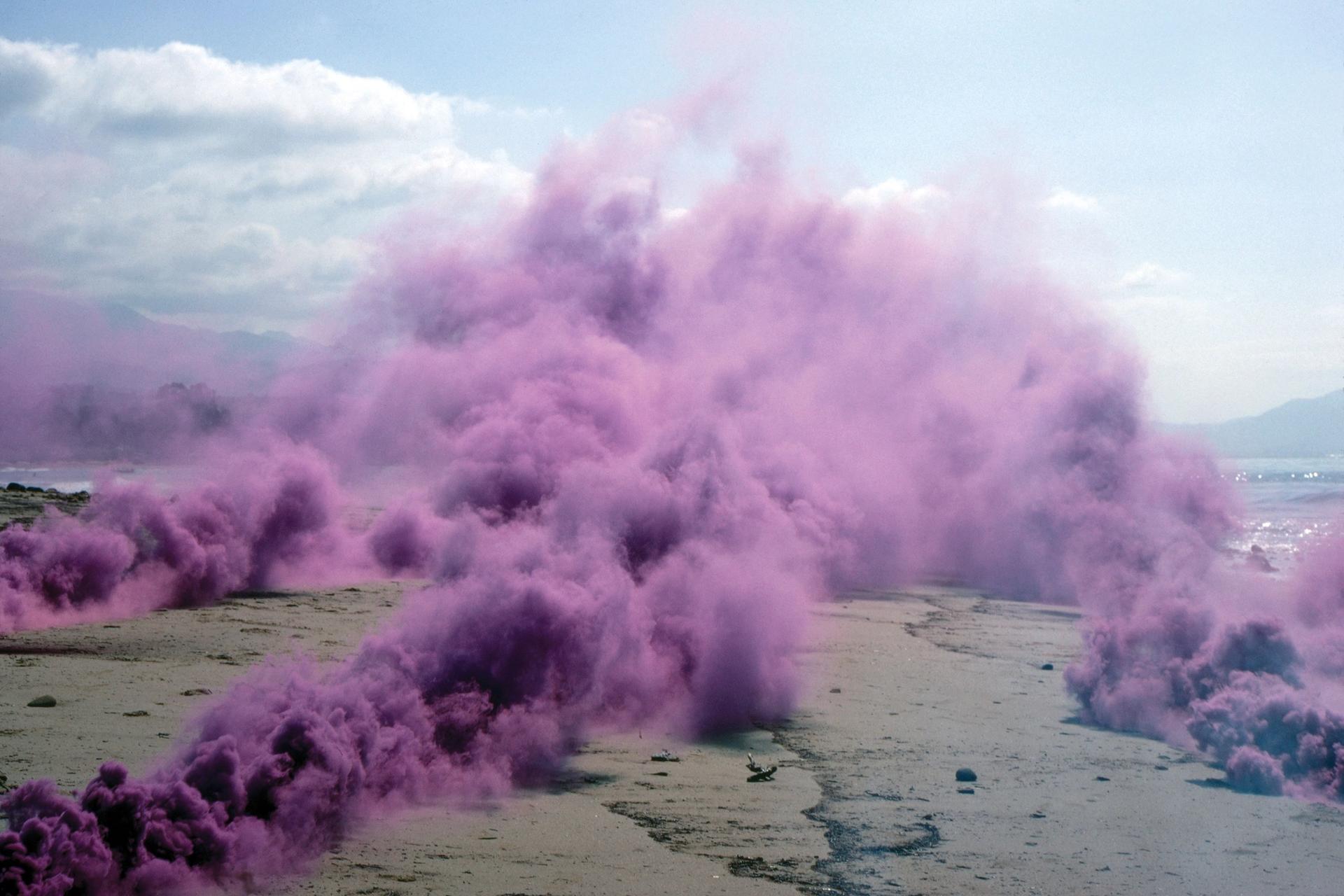 Rendering for Living Smoke: A Tribute to the Living Desert by Desert X 2021 artist Judy Chicago Courtesy of the artist and Desert X