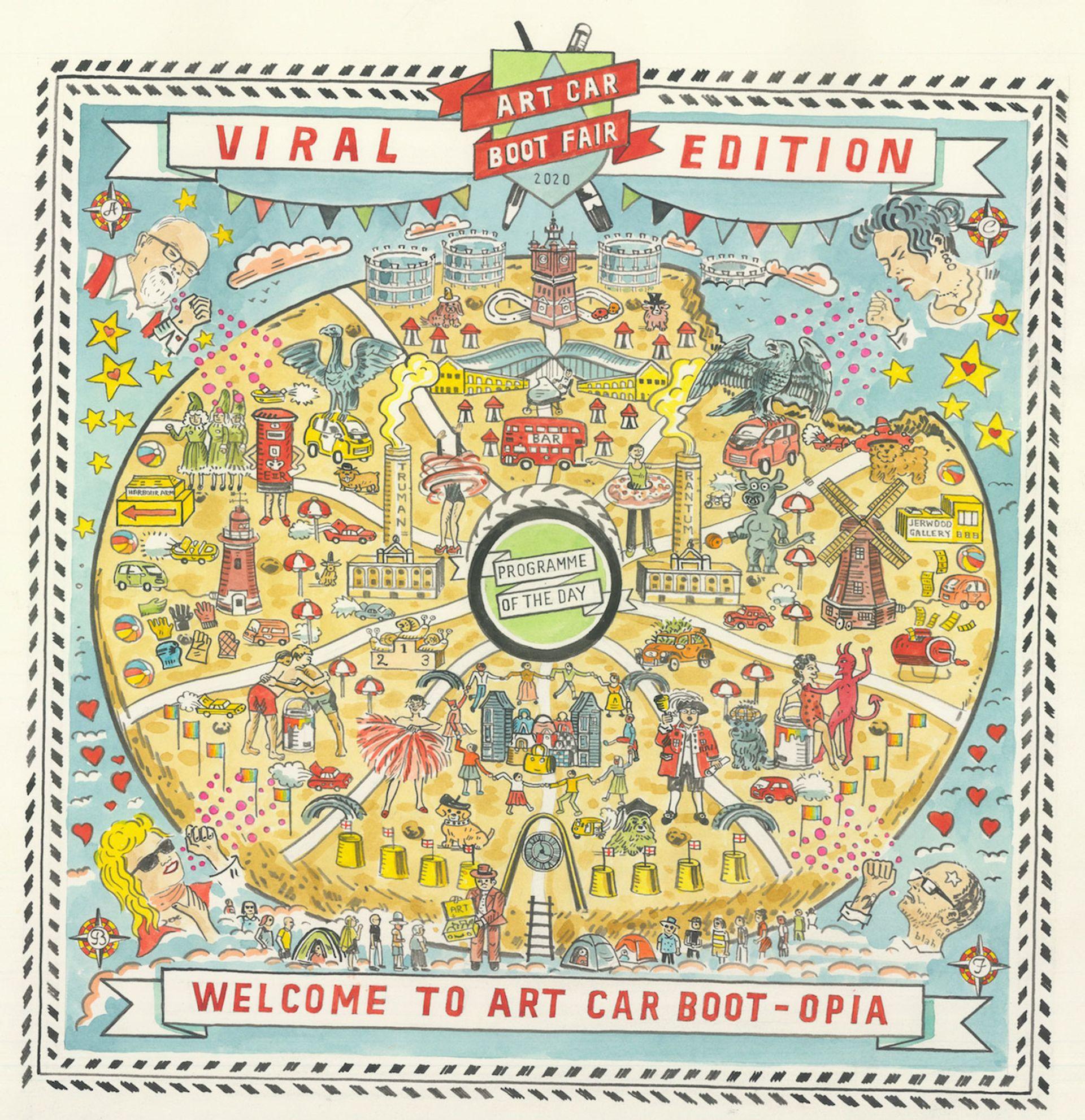 Adam Dant's Art Car Bootopia (2020) Courtesy of the Art Car Boot Fair