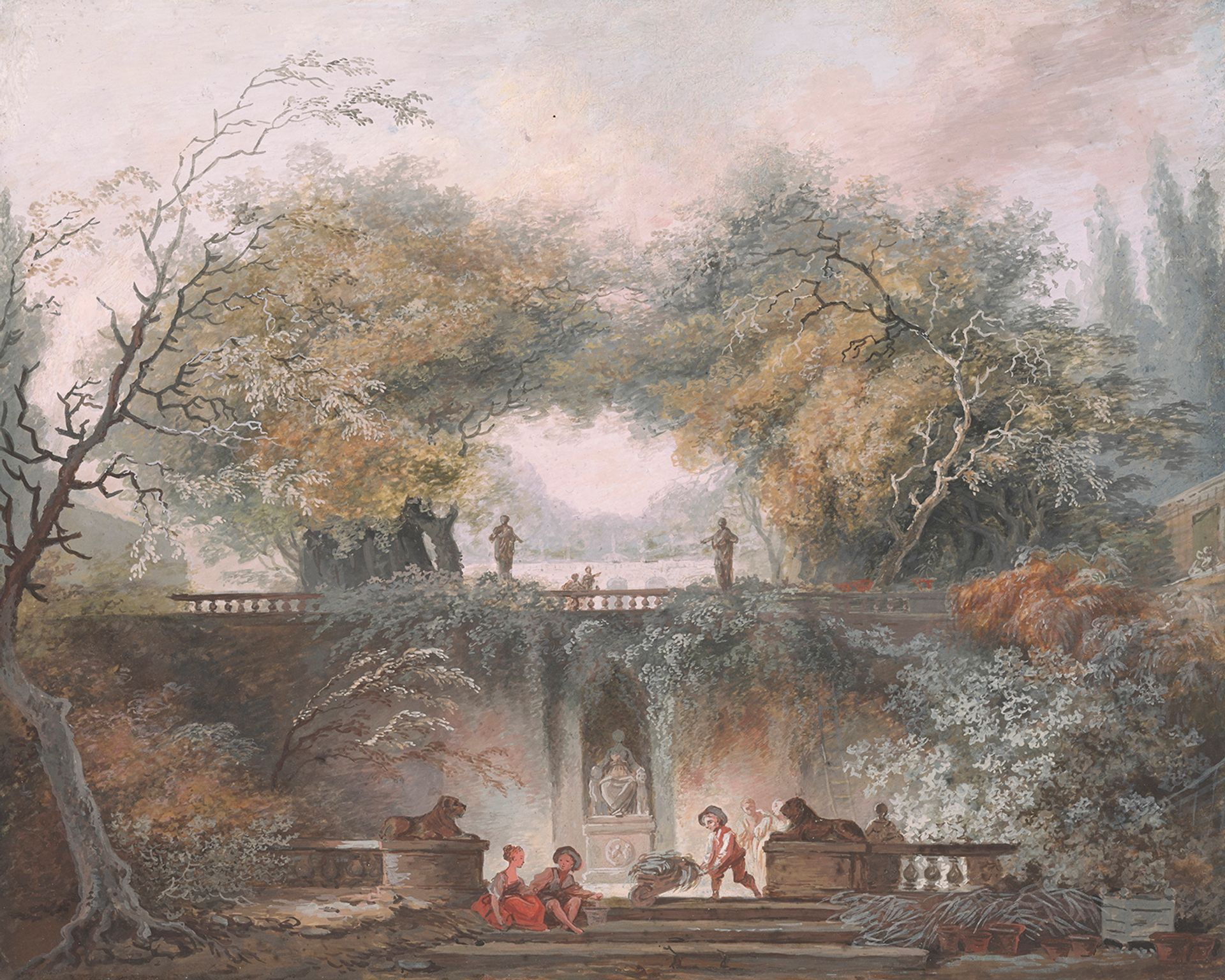 Jean-Honoré Fragonard, The Little Park (around 1765) Thaw Collection; The Morgan Library & Museum