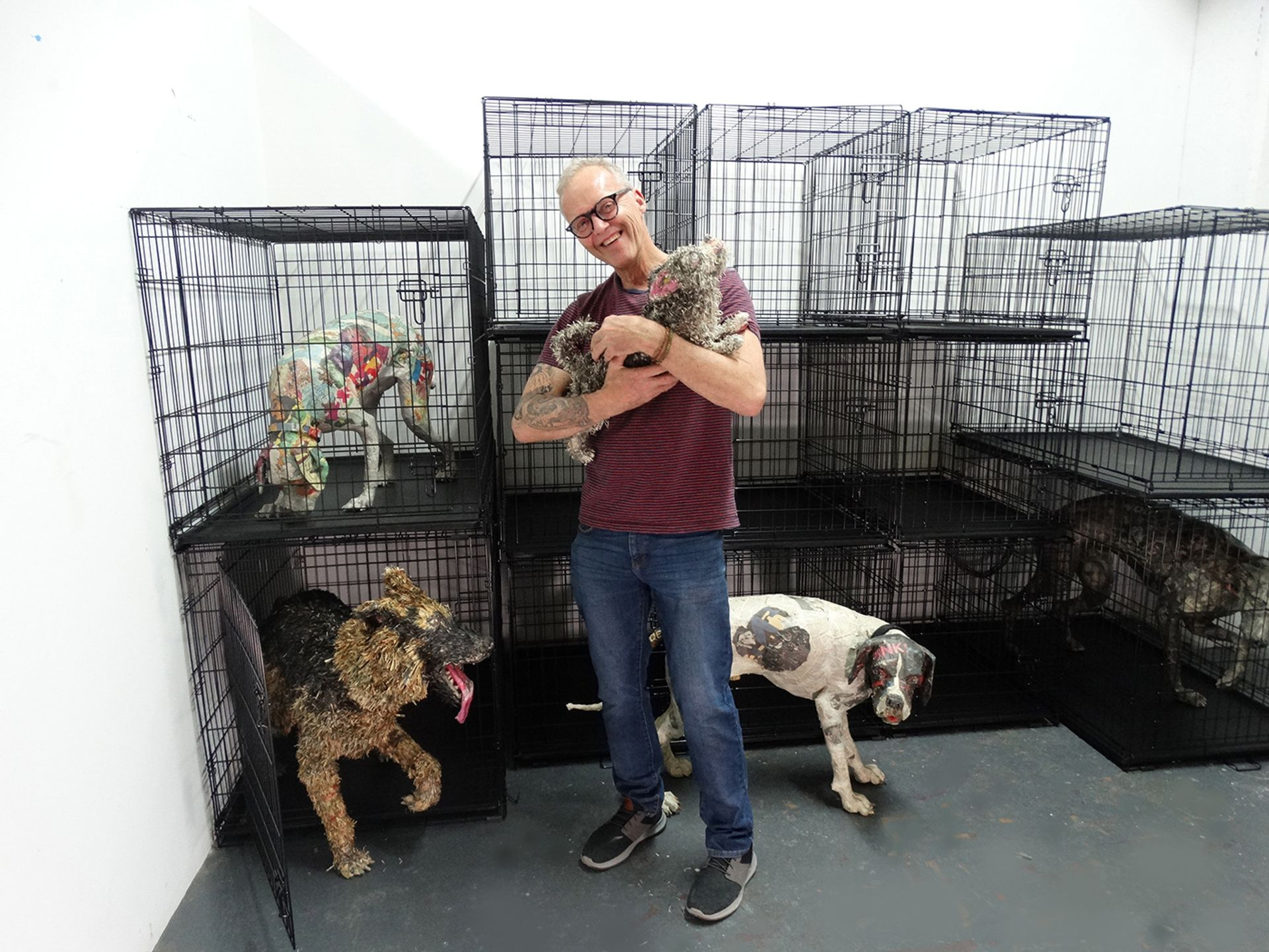 """Will Kurtz with his """"dogs"""""""