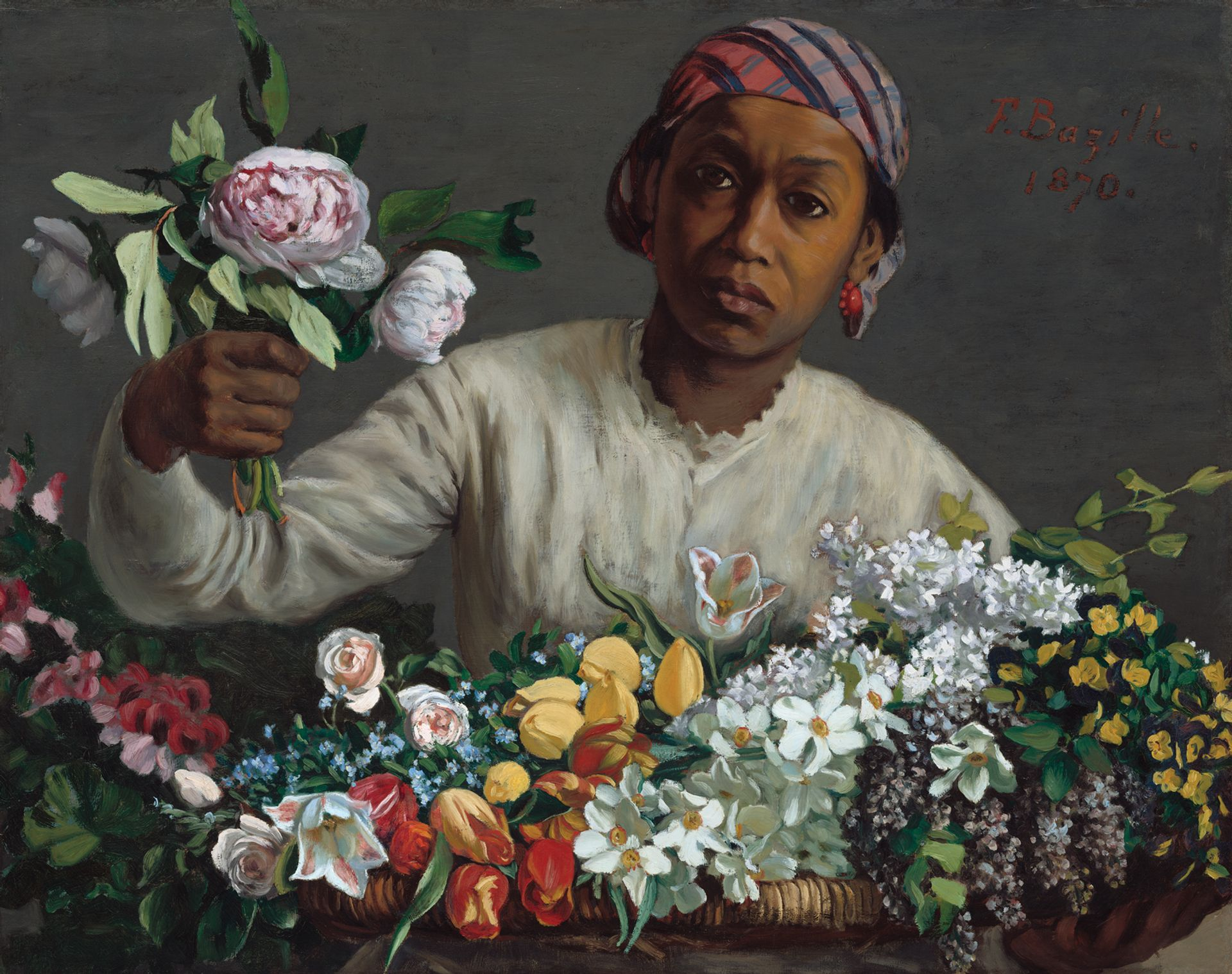 Frédéric Bazille's Young Woman with Peonies (1870) Courtesy of the National Gallery of Art, Washington, DC