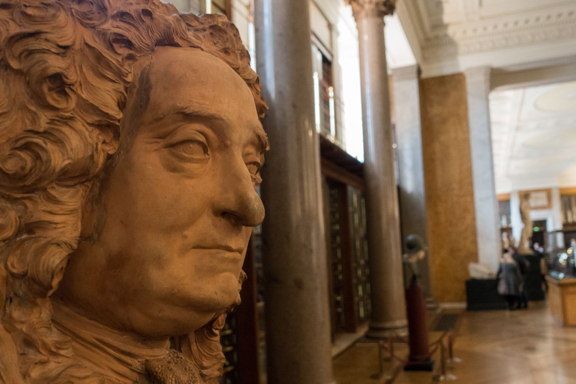 The redisplay of the Hans Sloane bust is part of the British Museum's efforts to address Britain's colonial past Photo: Paul Hudson