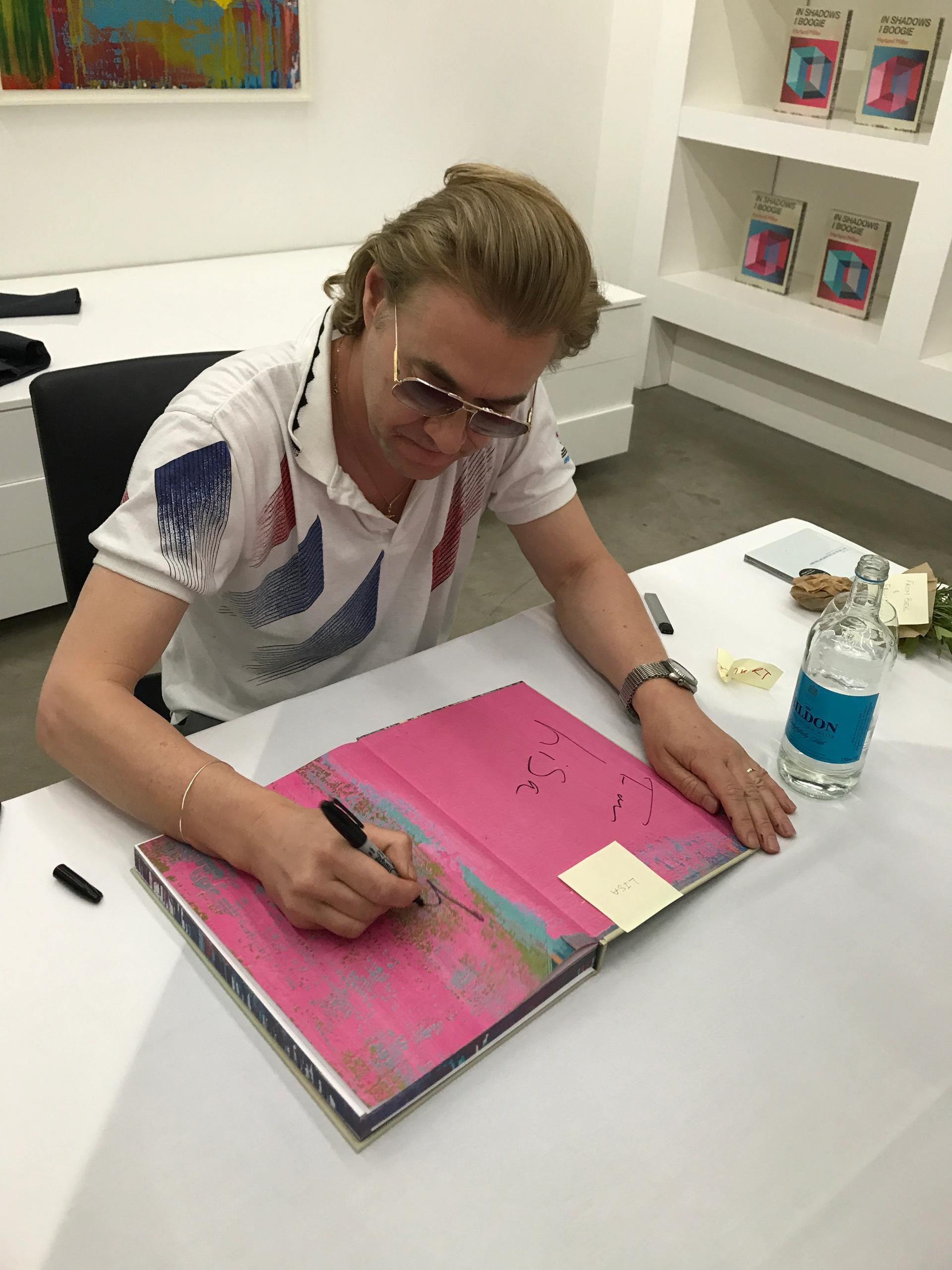 Harland Miller at the White Cube book signing Gareth Harris