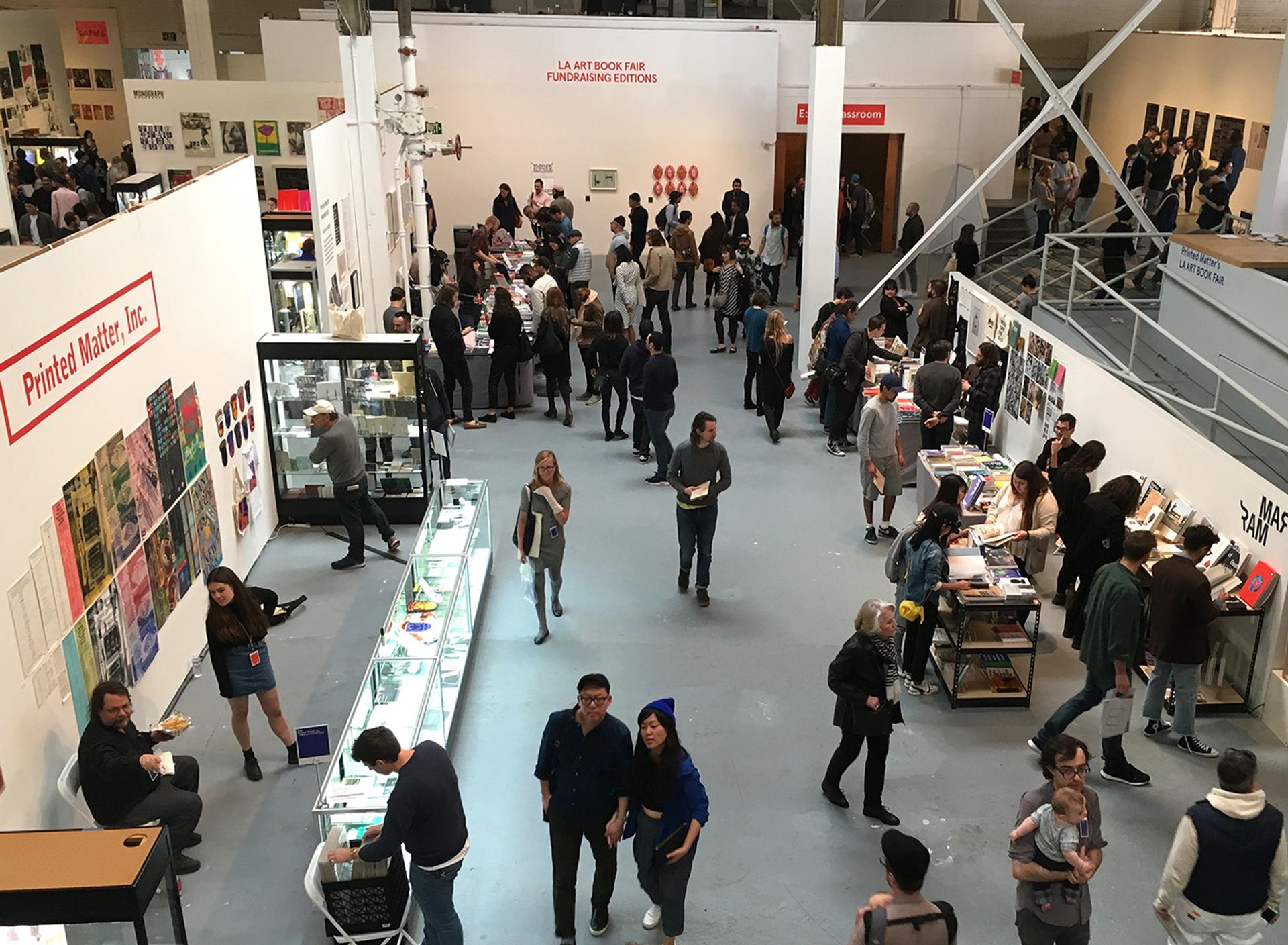 A view of the 2017 LA Art Book Fair at the Geffen Contemporary branch of the Museum of Contemporary Art, Los Angeles Jori Finkel