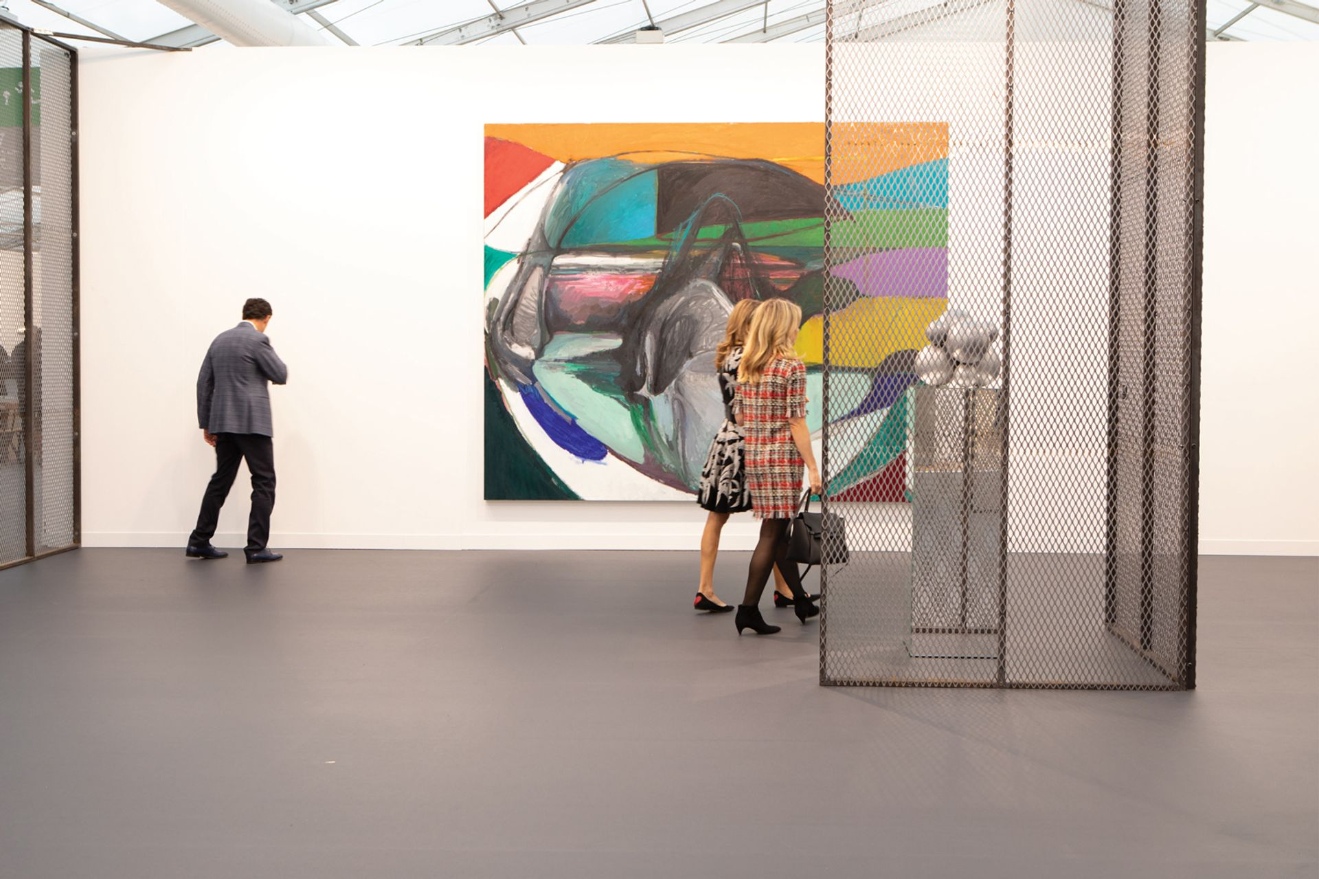 White Cube has dedicated its Frieze London stand to the Chinese artist Liu Wei © David Owens/The Art Newspaper