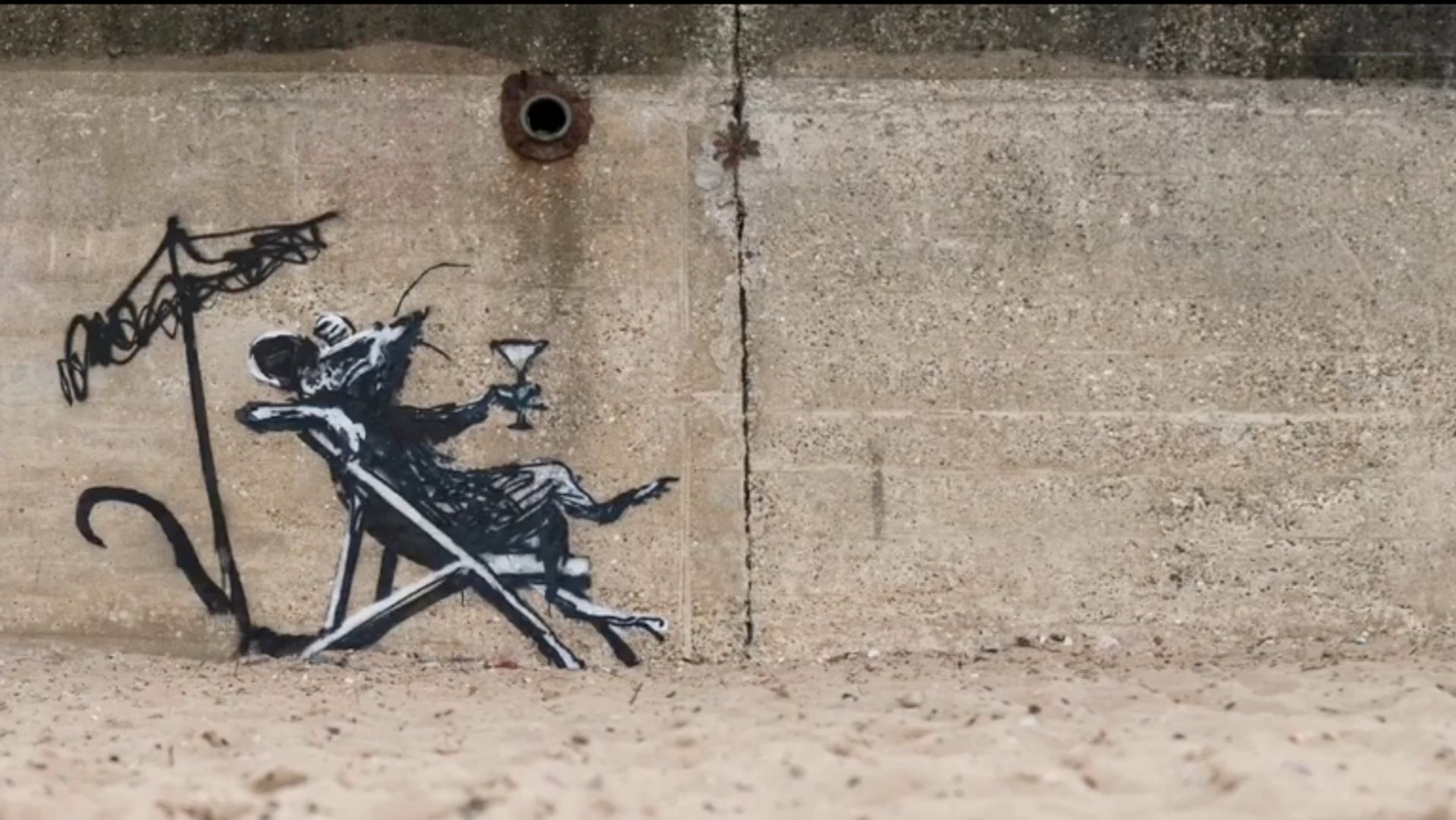 """Street artist Banksy recently carried out his """"spraycation"""", creating ten works across the East Anglia region Banksy / Instagram"""