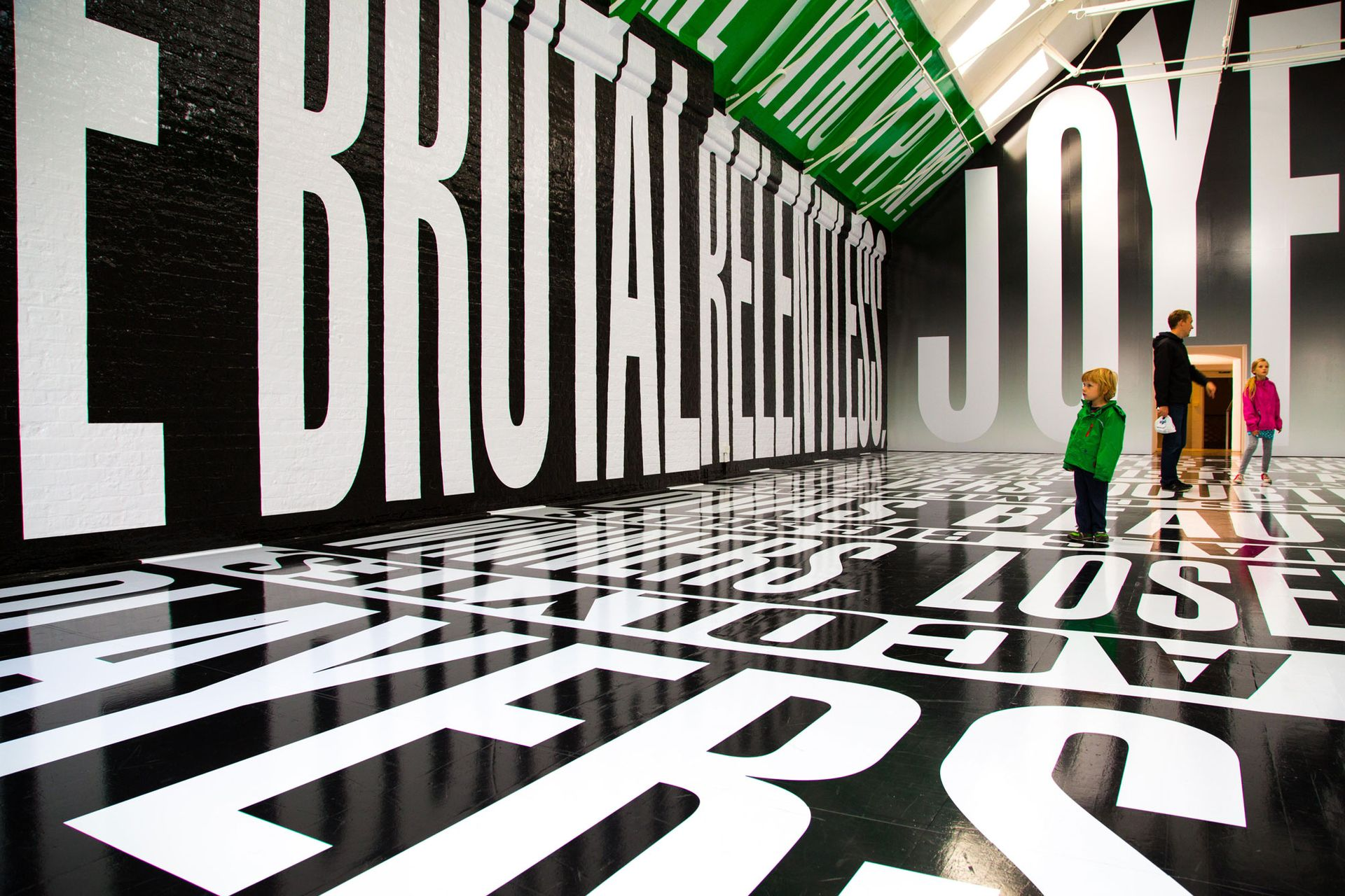 A Barbara Kruger exhibition at Modern Art Oxford, which has had to pause its £2.5m capital campaign for a building refurbishment amid funding uncertainty due to coronavirus Photo: Elly Godfroy/Alamy