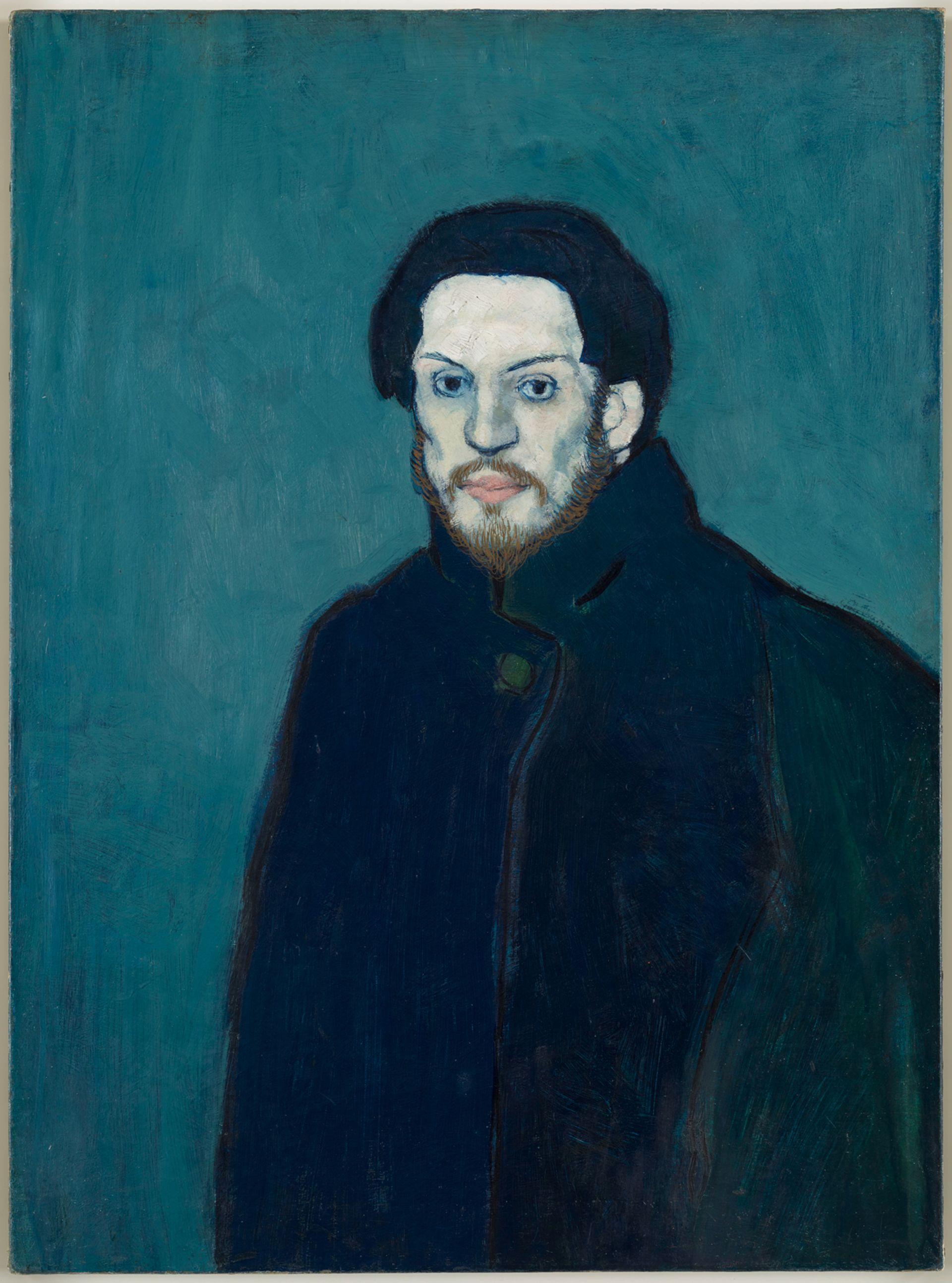 Picasso's Self-portrait (1901) © Succession Picasso. Photo: RMN-Grand Palais (Musée National Picasso-Paris), Mathieu Rabeau