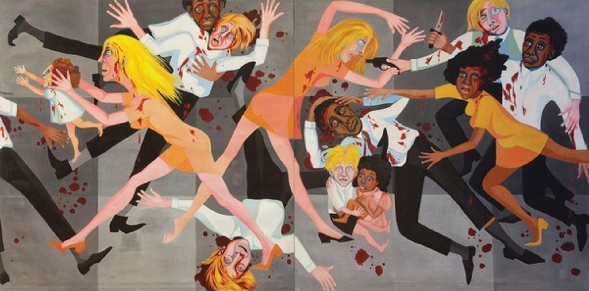 Faith Ringgold's American People Series #20: Die (1967) (© MOMA)