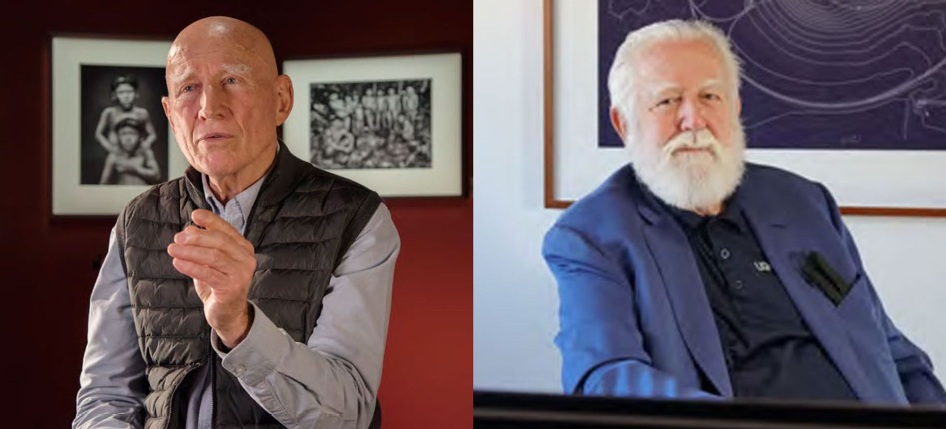 Sebastião Salgado (left) and James Turrell are among the all-male laureates for this year's Praemium Imperiale Award