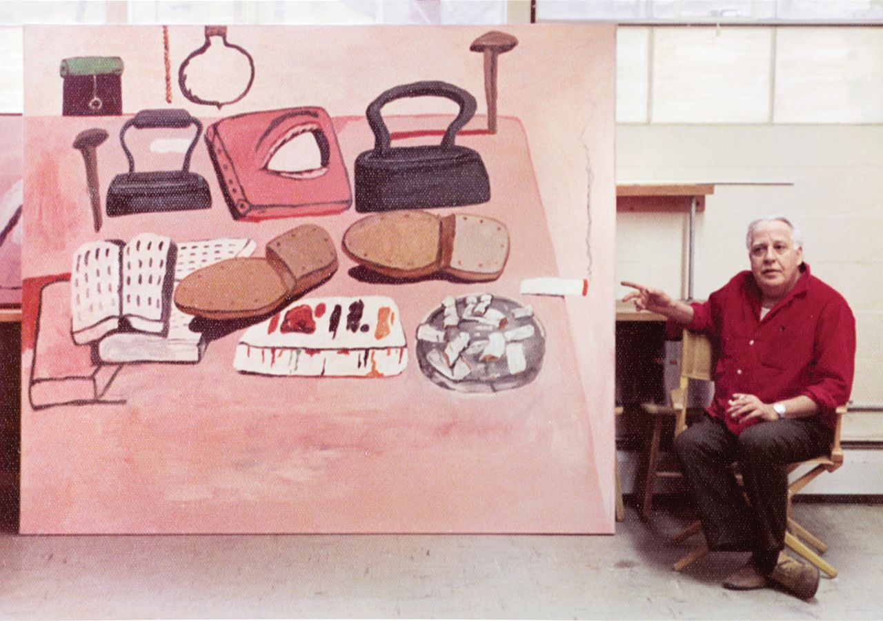 Philip Guston in front of Painter's Table (1973) © Barbara C. Sproul