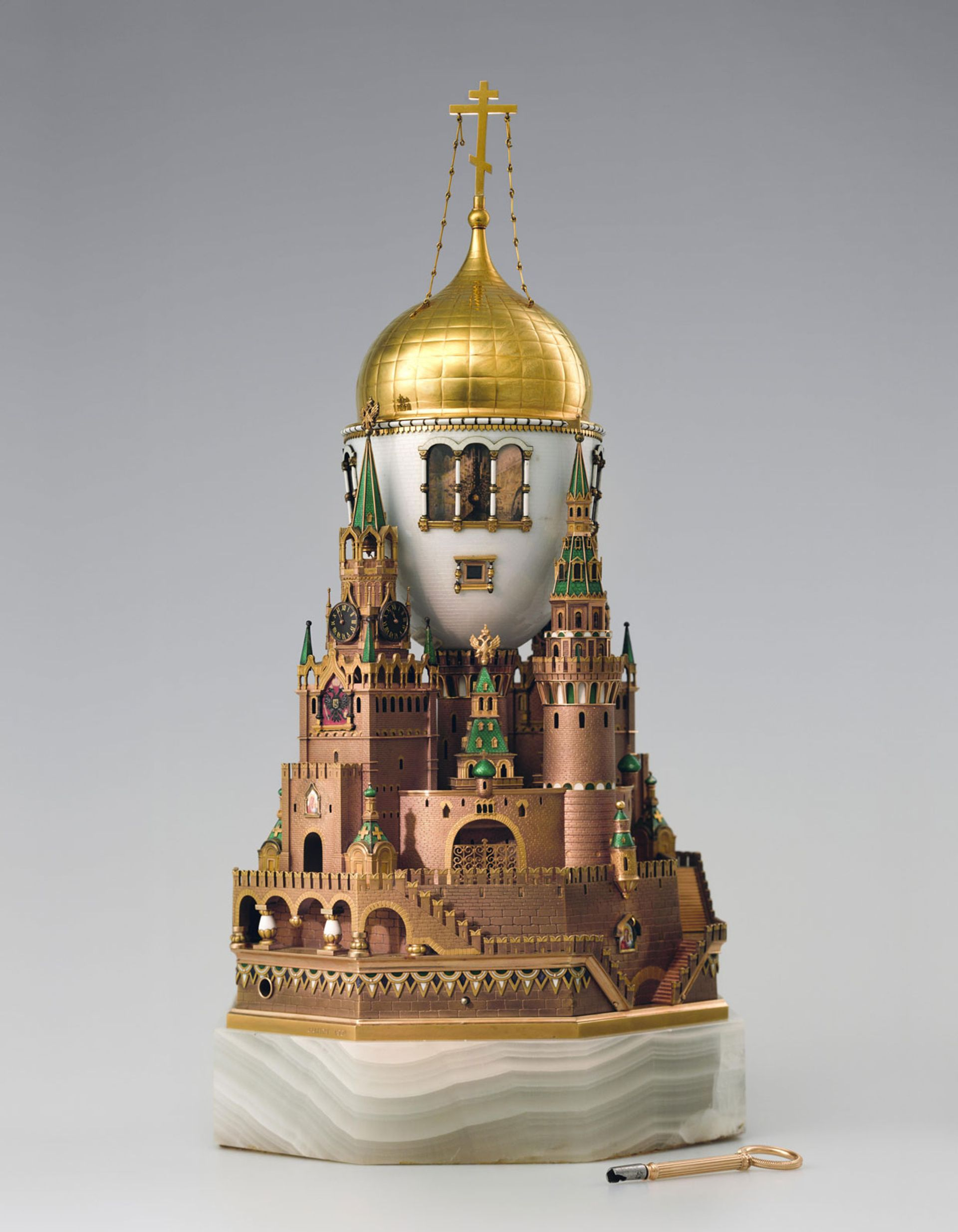 The Moscow Kremlin Easter egg (1904–06) made by the House of Fabergé was a gift from Nicholas II to Alexandra Feodorovna © Moscow Kremlin Museums