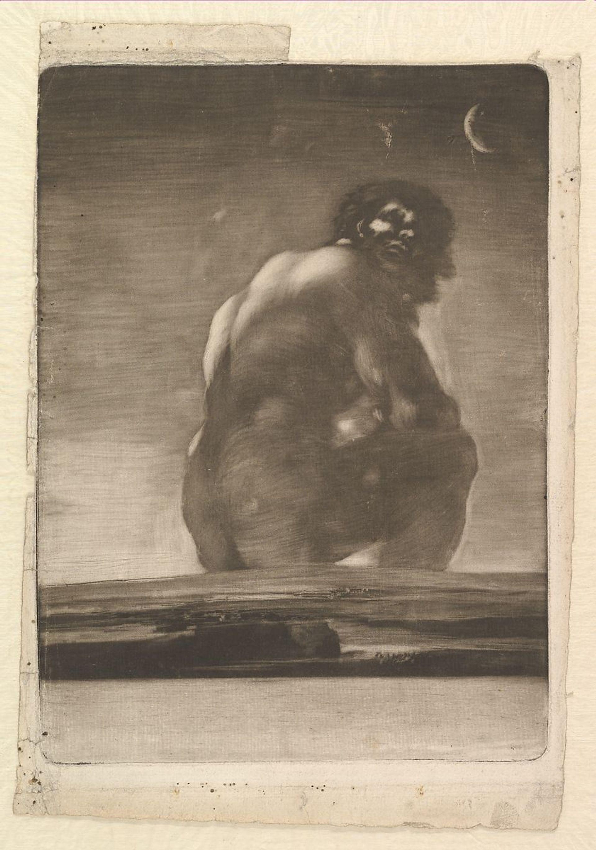 Goya's Seated Giant (1818)