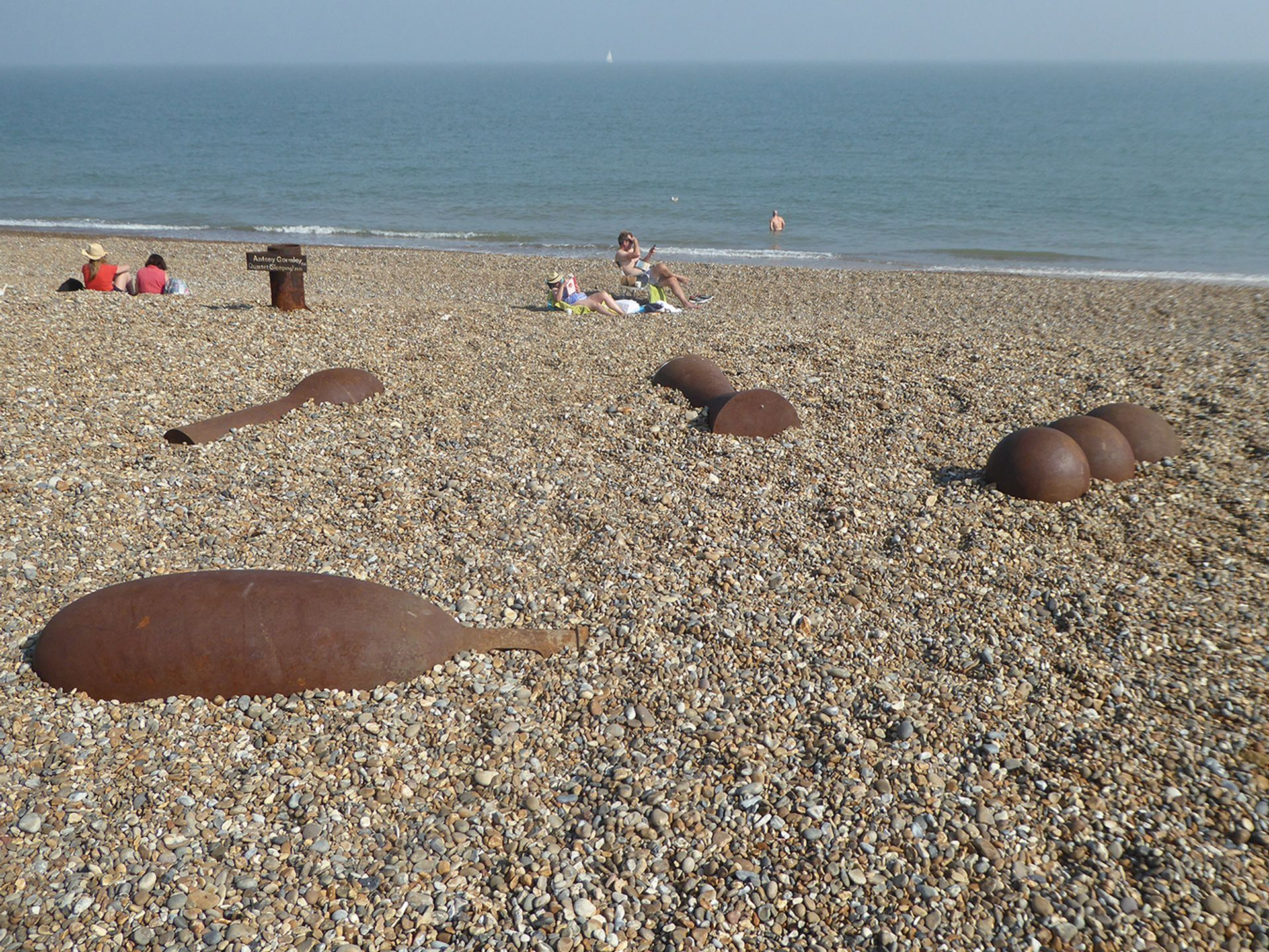 """Quartet (2001) by Antony Gormley was likened to """"a collection of sex toys"""" by one Suffolk resident © Gerry Morris / Flickr"""