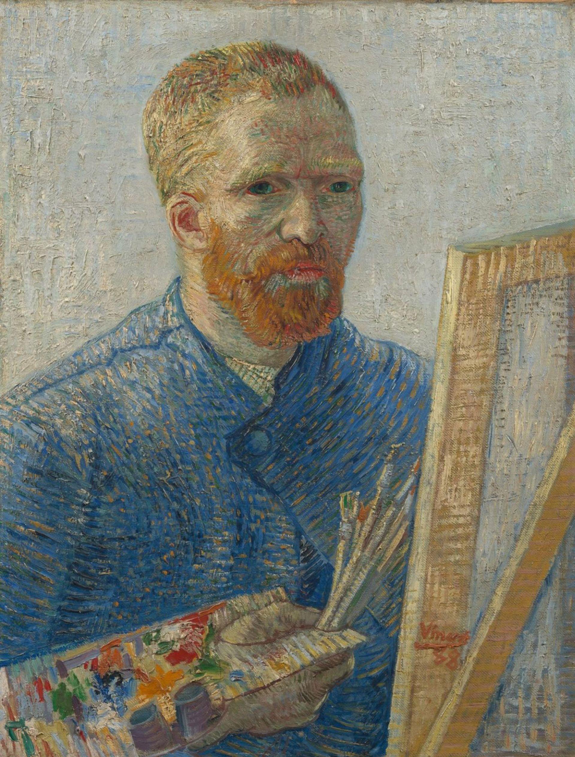 Vincent van Gogh's Self-Portrait as a Painter (1888) Van Gogh Museum, Amsterdam (Vincent van Gogh Foundation)