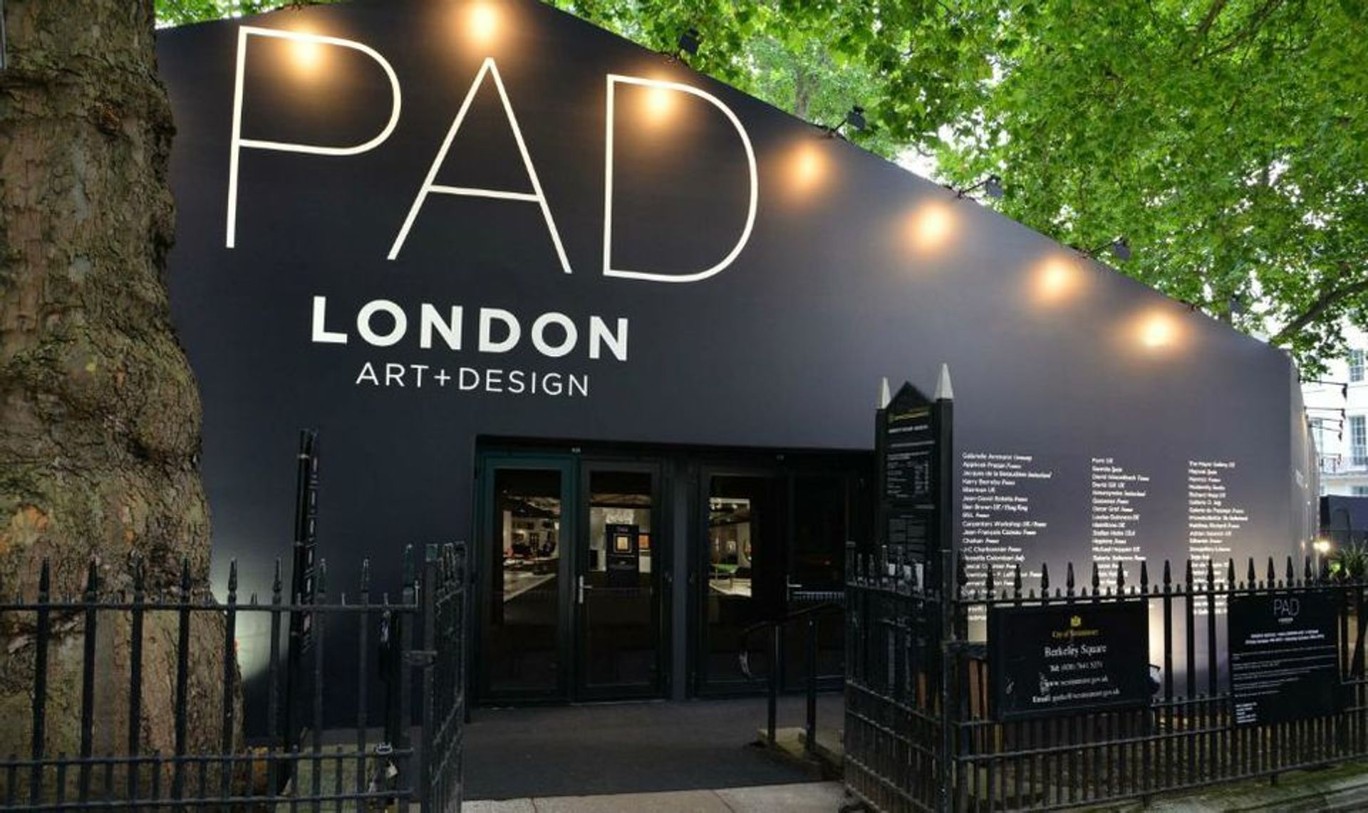 PAD London will not return to its marquee in Berkeley Square, London, until 2022 © PAD London