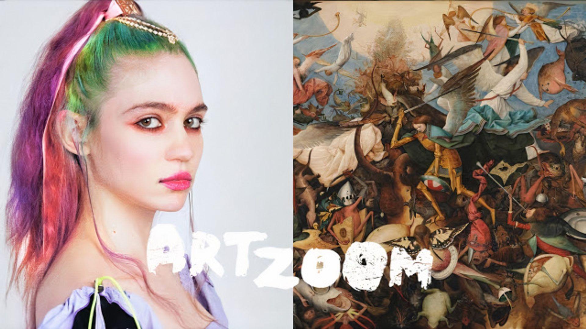 Grimes on Art Zoom courtesy Google Arts & Culture