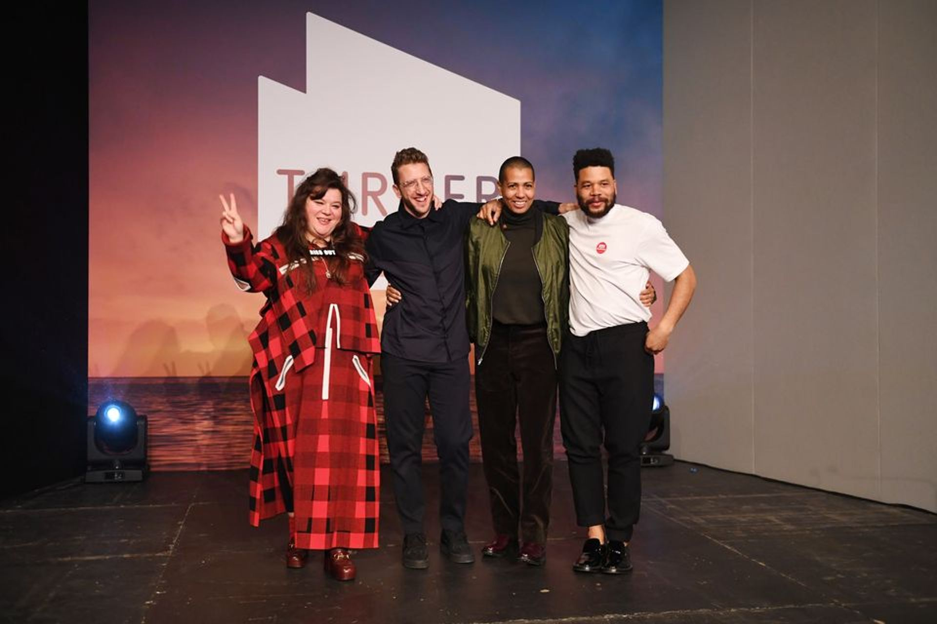 Tai Shani, Lawrence Abu Hamdan, Helen Cammock and Oscar Murillo's shared the Turner Prize in 2019 Photo: © Stuart Wilson/Getty Images