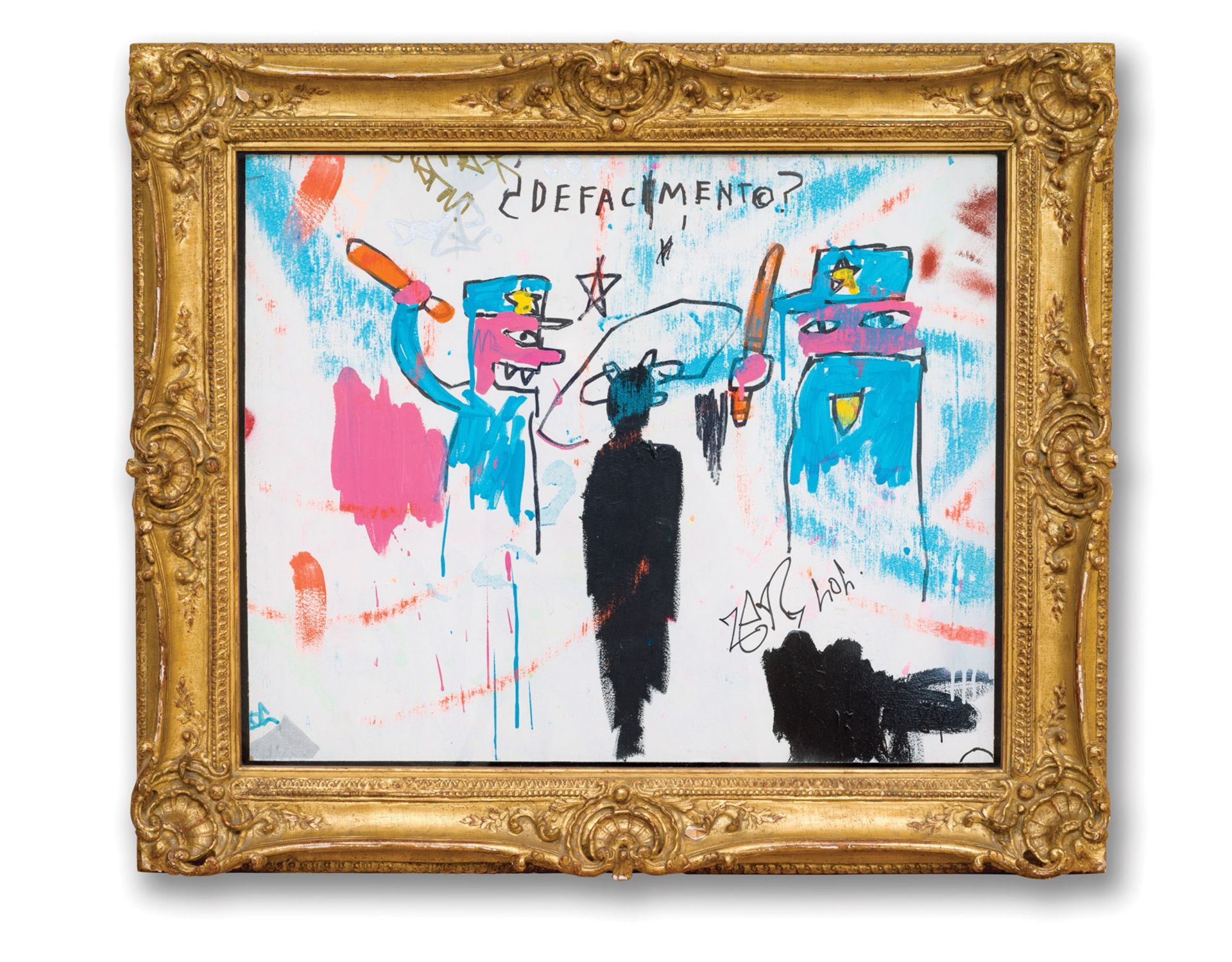 Jean-Michel Basquiat's Defacement (The Death of Michael Stewart) (1983) is the centrepiece of a show at the Guggenheim Museum in New York Photo: Allison Chipak © Solomon R. Guggenheim Foundation