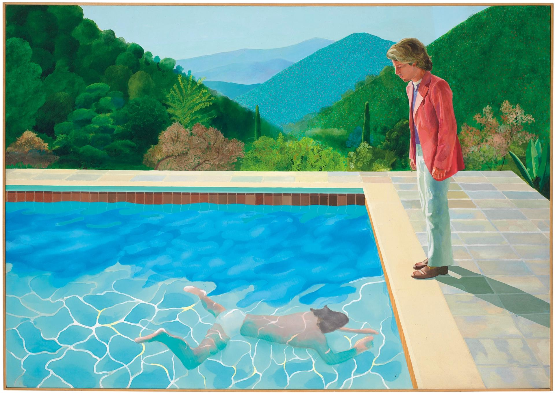 Portrait of an Artist (Pool with Two Figures) is a both a double portrait and pool painting, both hallmarks of Hockney's work Christie's Images Ltd 2018