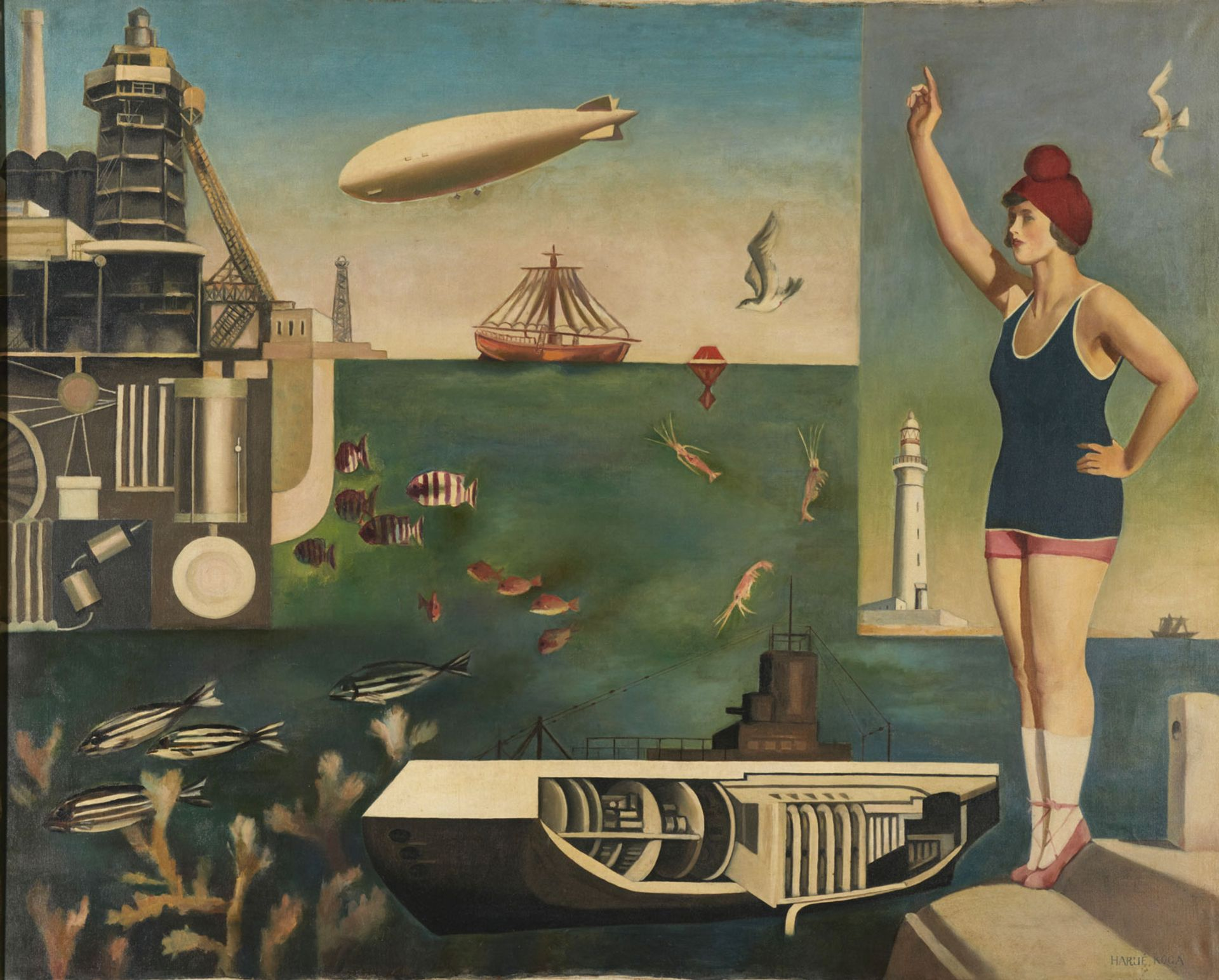 Koga Harue's Umi (The Sea) (1929) will be on show in Tate Modern's exhibition Surrealism Beyond Borders The National Museum of Modern Art, Tokyo. Photo: MOMAT/DNPartcom