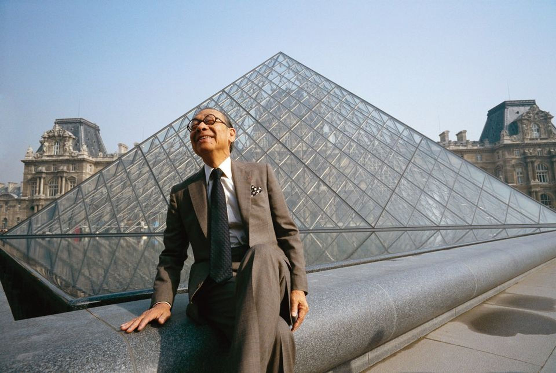 Despite early condemnation by critics, the Louvre's monumental glass pyramid, designed by the Chinese-American architect I.M. Pei (above), is credited with helping to boost visitor numbers from 3.5 million in 1989 to more than 10 million last year © Bernard Bisson/Sygma/Getty Images