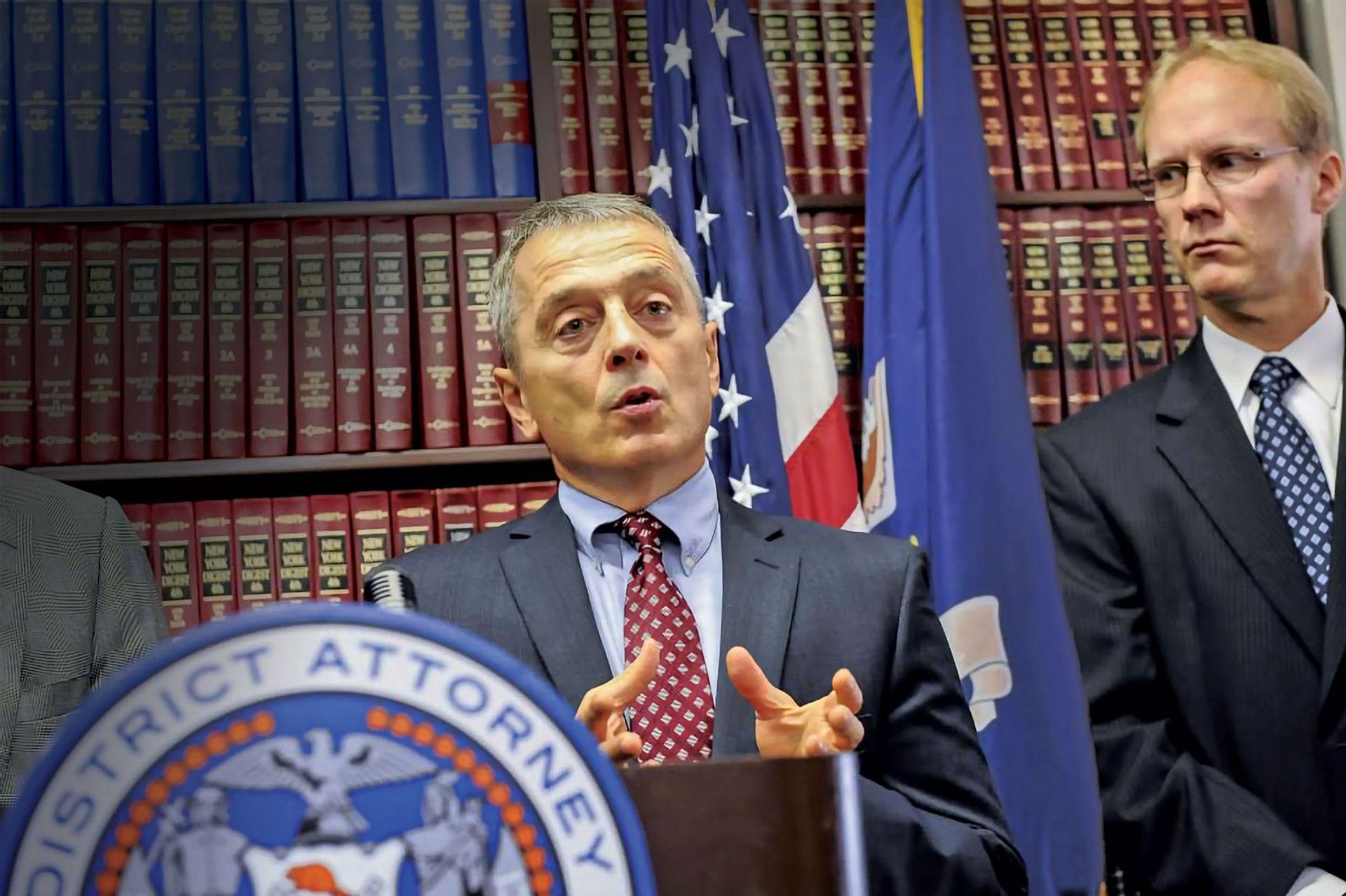 Matthew Bogdanos is investigating up to 40 suspected trafficking cases Manhatten District Attorney's Office