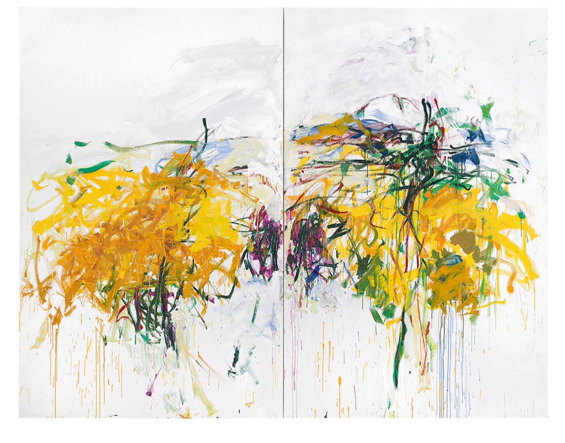 The survey will include Joan Mitchell's Untitled (1992), from the Komal Shah and Gaurav Garg collection Mitchell: © Estate of Joan Mitchell, courtesy of Cheim & Read, New York
