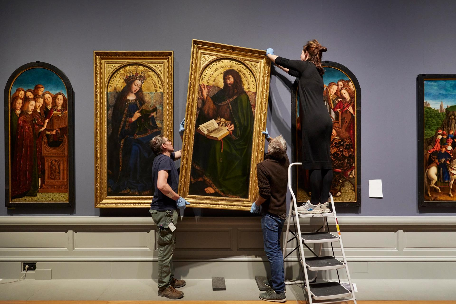 The exhibition Van Eyck: an Optical Revolution was on display in the Museum of Fine Arts Ghent © MSK Ghent. Photo: David Levene