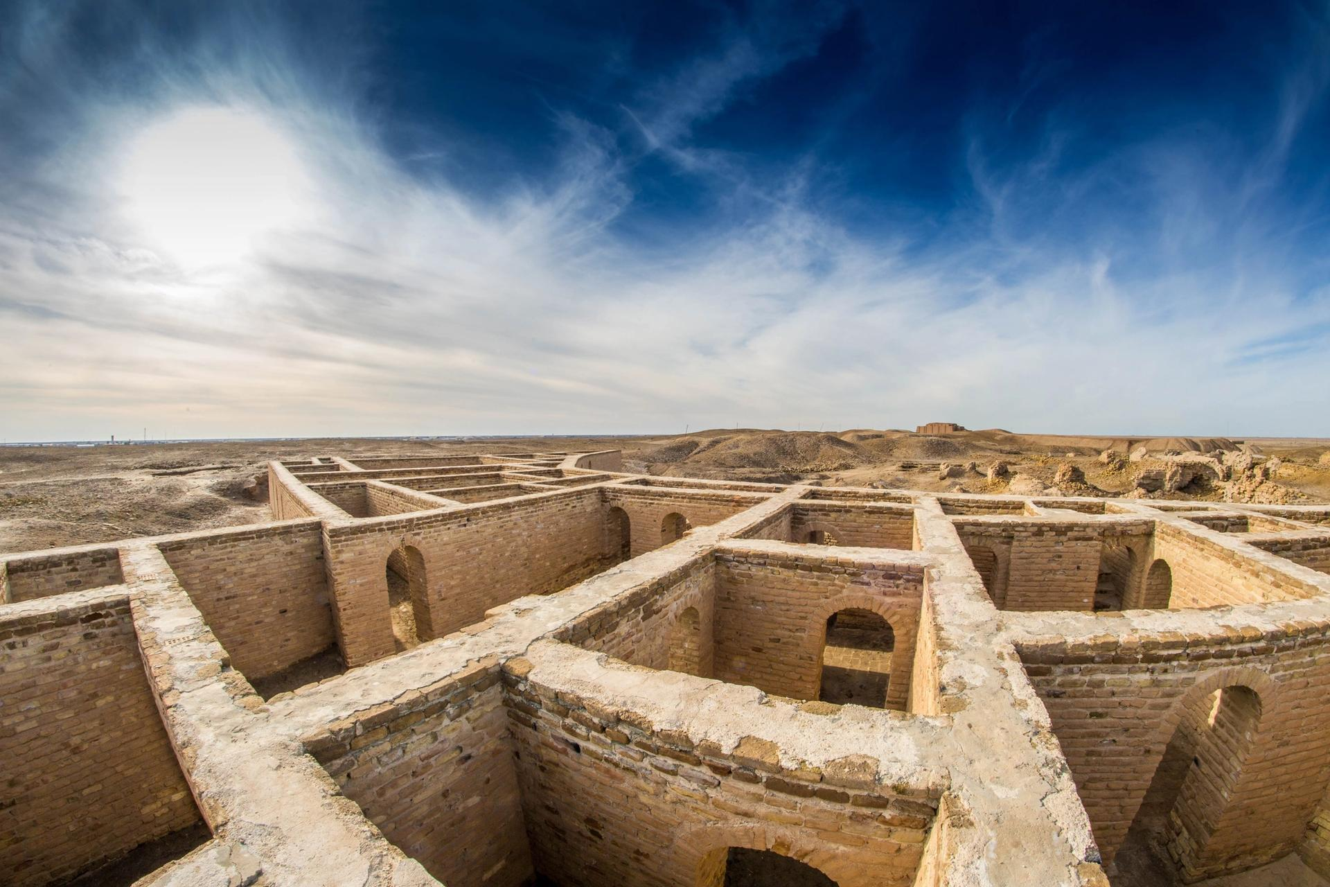 The new discovery is in Dhi Qar, southern Iraq, home to many archaeological sites including ziggurat temples, ancient burial grounds, and the so-called Home of Abraham (pictured) Photo: Aziz1005