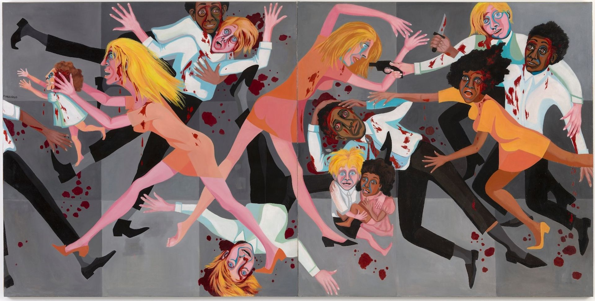 Faith Ringgold, American People Series #20: Die (1967) © Faith Ringgold / ARS, NY and DACS, London, courtesy ACA Galleries, New York 2021. Digital Image © The Museum of Modern Art/Licensed by SCALA / Art Resource, NY