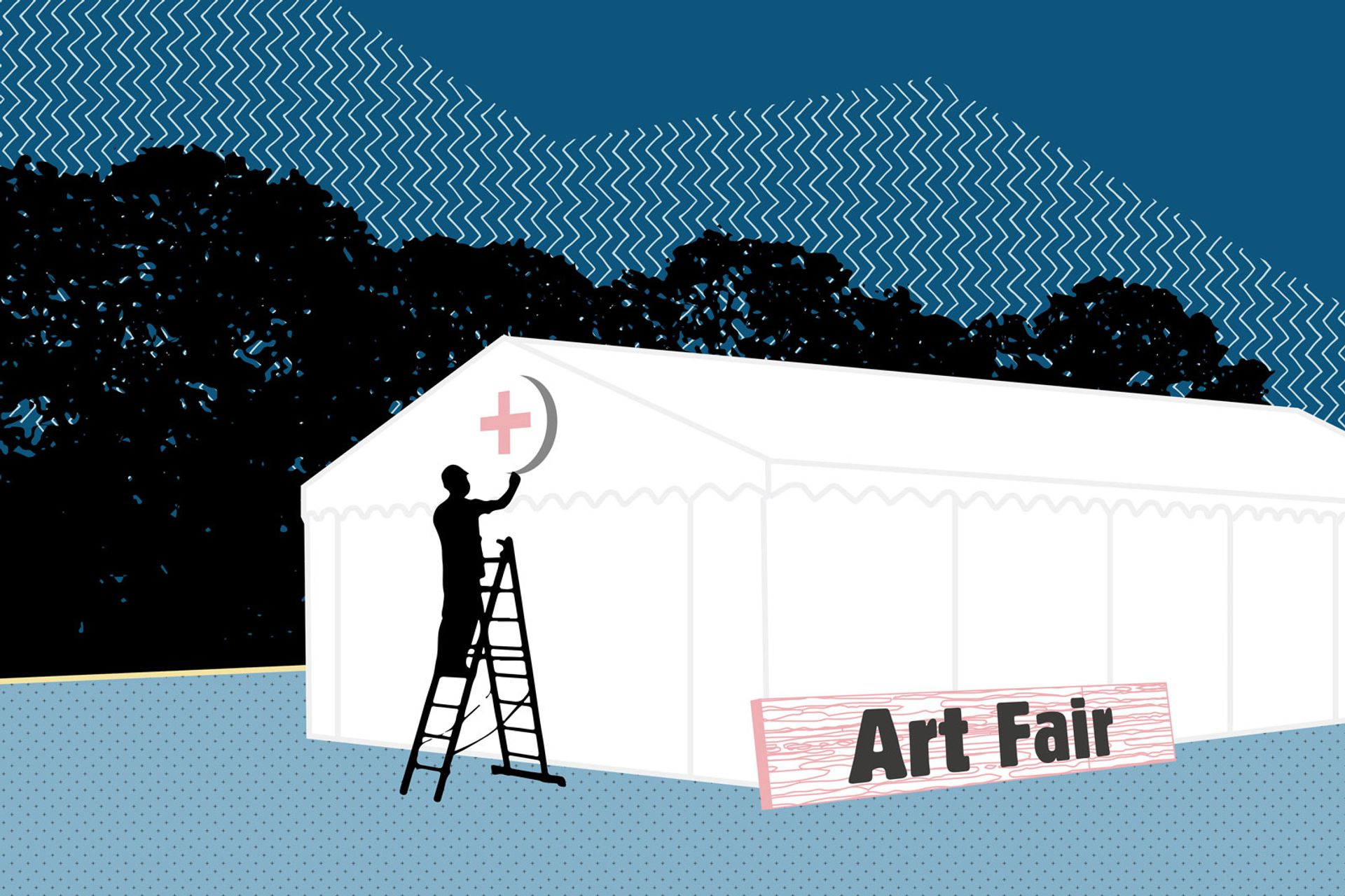 More than 20 fairs around the world have been cancelled or postponed due to the coronavirus pandemic Illustration: © Katherine Hardy