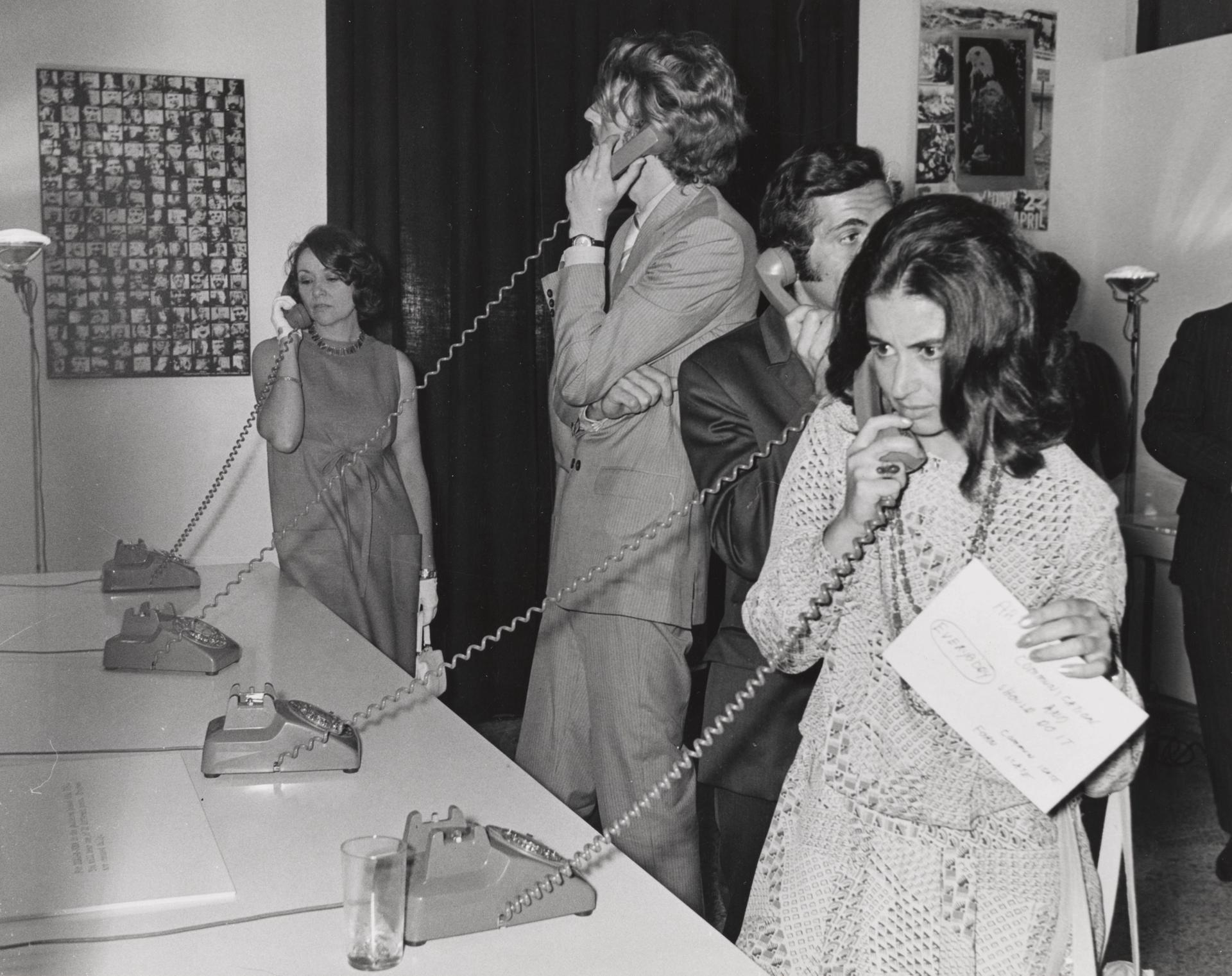John Giorno's Dial-A-Poem (around 1970). Photo: Unknown. Courtesy of the John Giorno Foundation, New York, NY