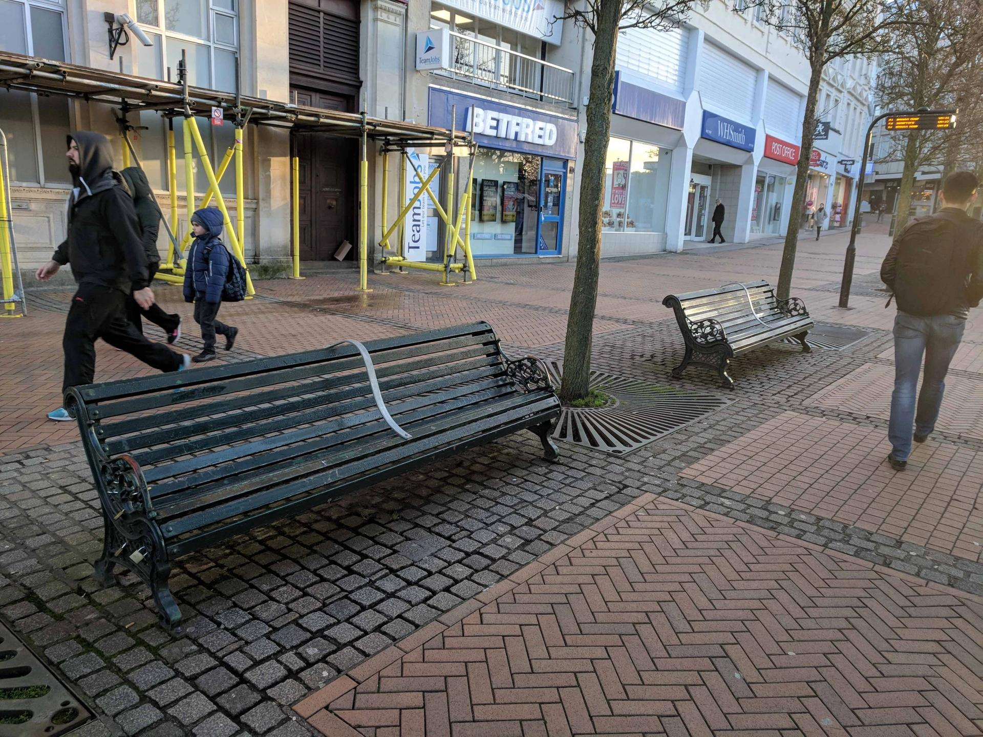 Bournemouth Council installed bars on benches to prevent homeless people from sleeping on them Stuart Semple