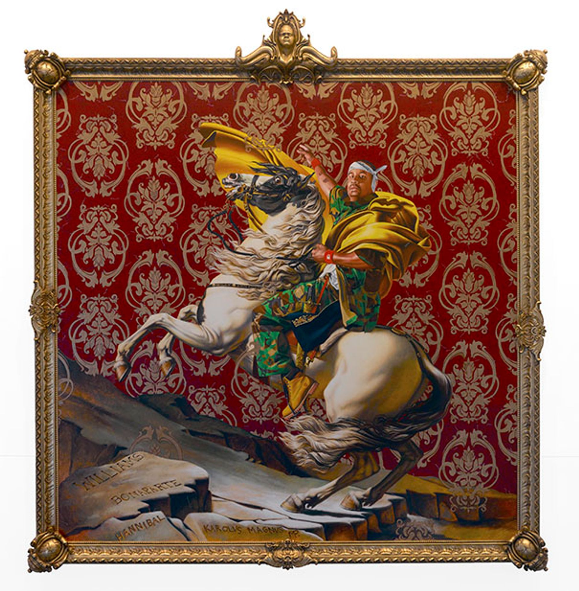Kehinde Wiley's Napoleon Leading the Army of the Alps (2005) © Kehinde Wiley. Photo: Brooklyn Museum