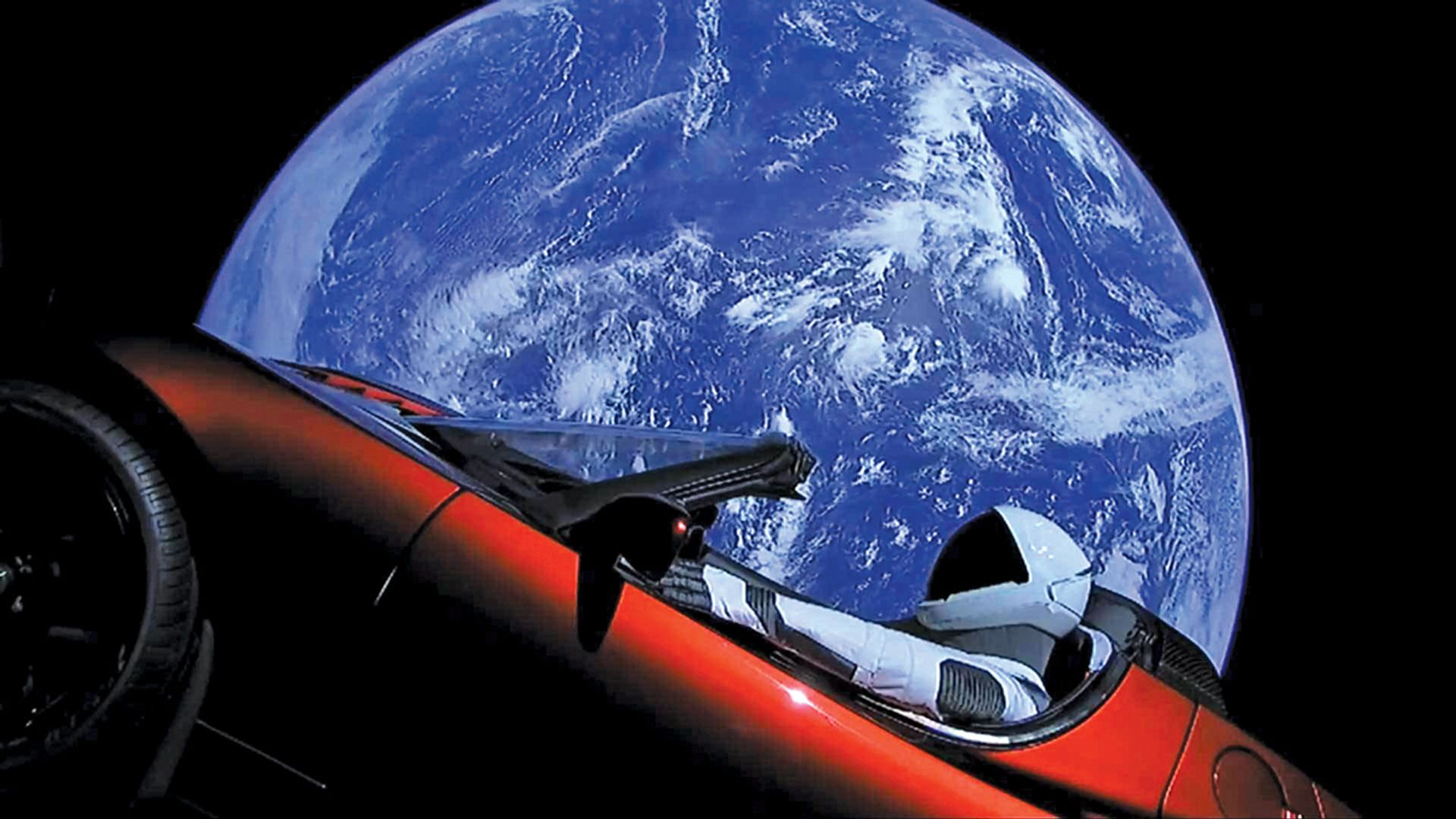 Space oddity: the Tesla sports car sent into space on Elon Musk's rocket © SpaceX Photos