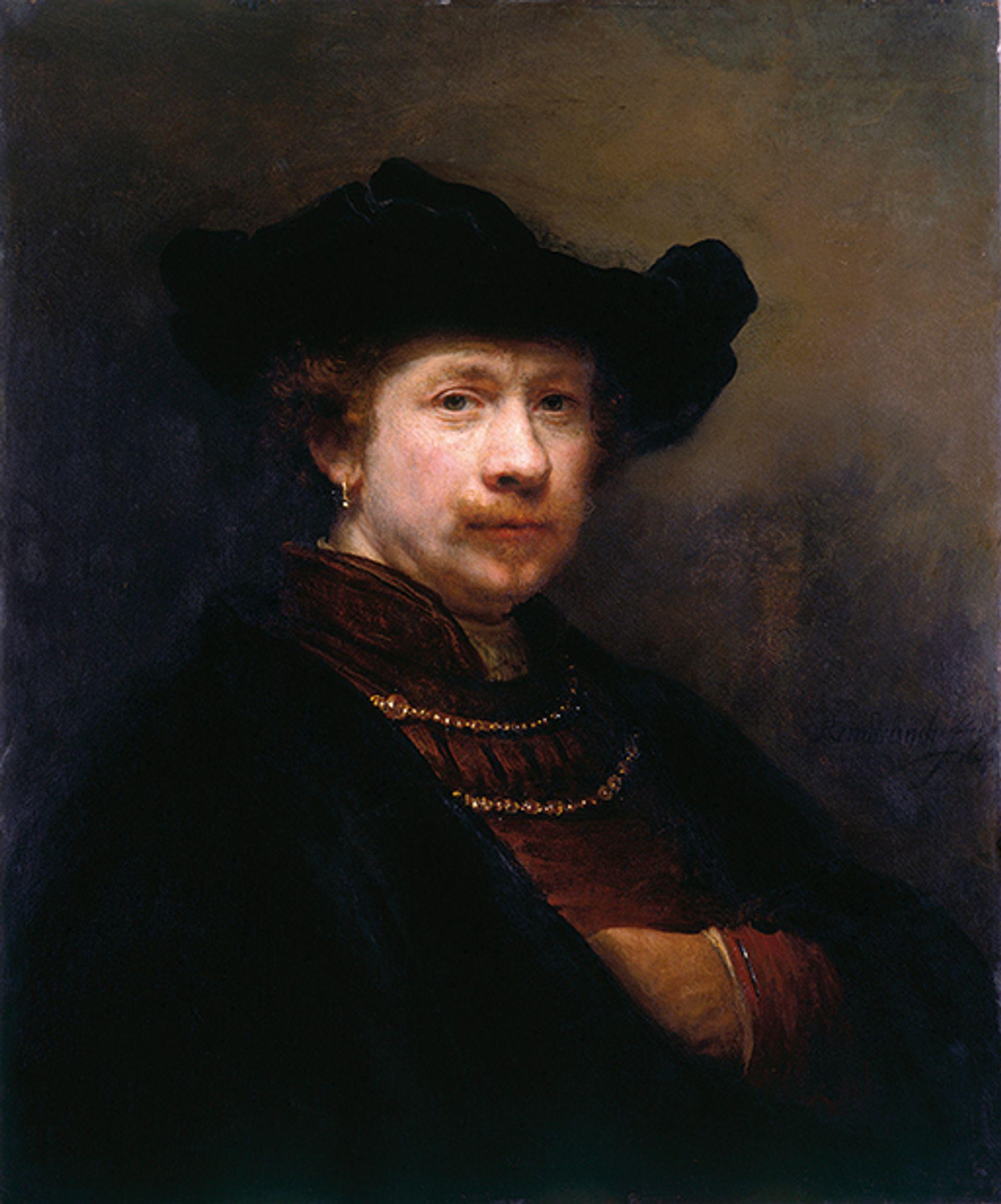 Rembrandt van Rijn's Self-Portrait (1642) © Her Majesty Queen Elizabeth II 2018; courtesy of Royal Collection Trust/Dutch Pictures