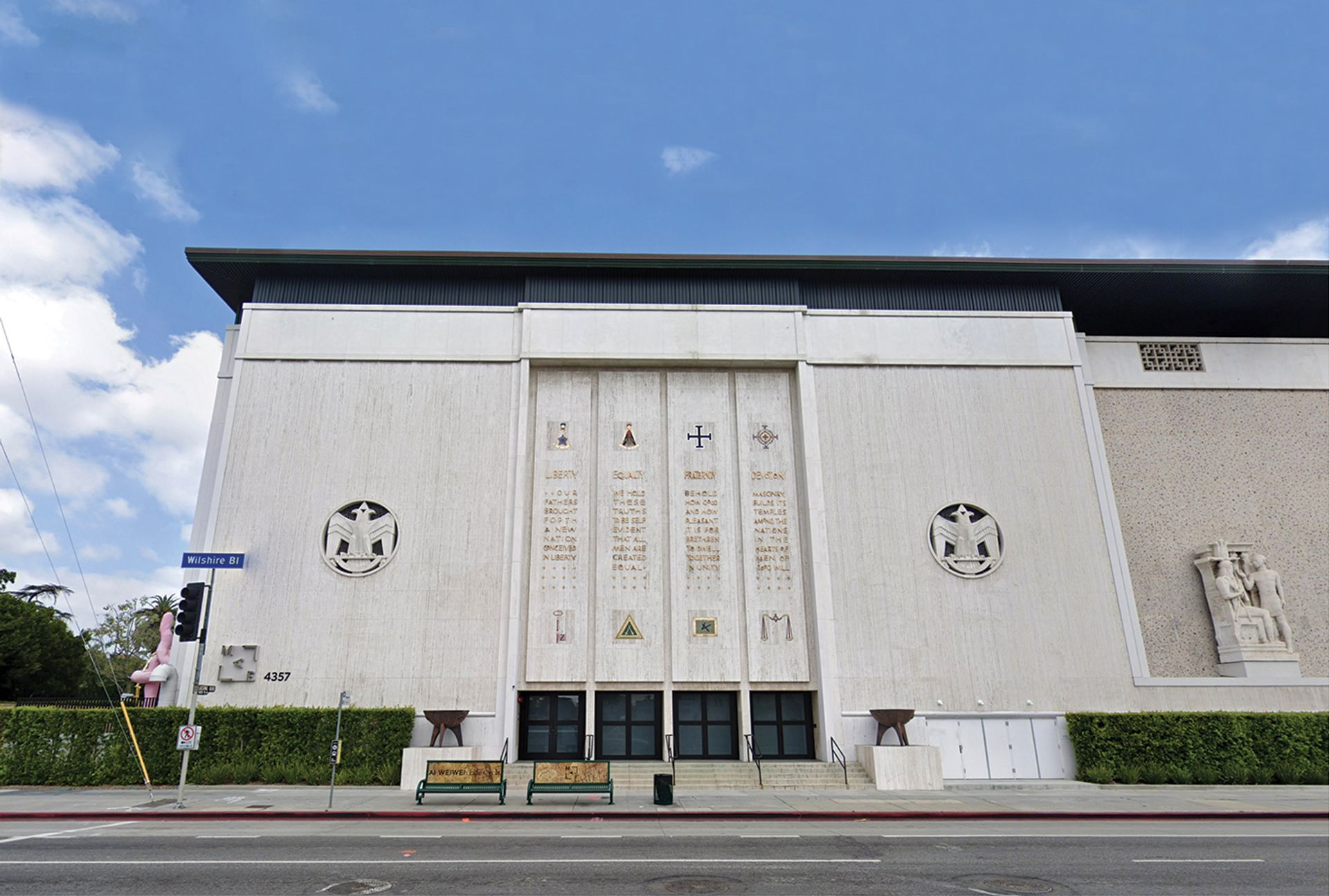 Closed: The Marciano Art Foundation, housed in a former Scottish Rite Masonic Temple on Wilshire Boulevard in Los Angeles
