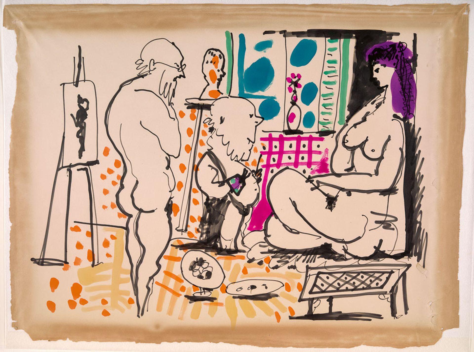 Pablo Picasso's In the Studio (1955) Musée National Picasso-Paris; © Succession Picasso/DACS; photo: Adrien Didierjean/RMN, Grand Palais
