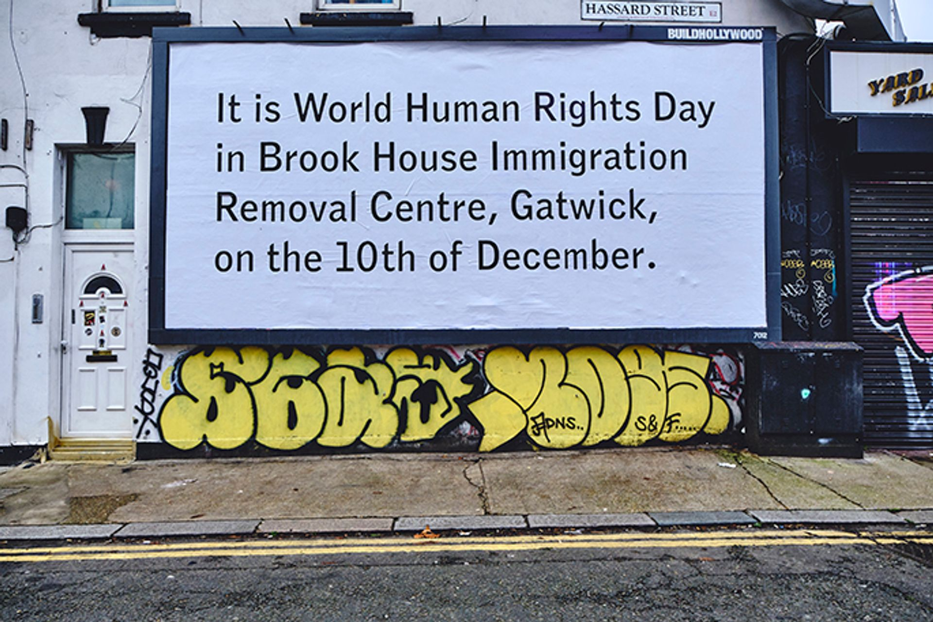 The artist Jeremy Deller has marked World Human Rights Day with a poster campaign © Buildhollywood