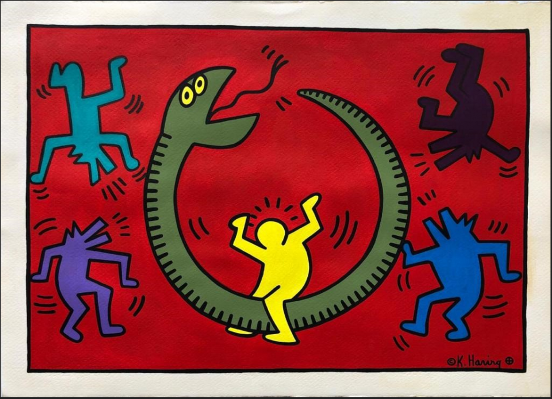 A fake work by Haring allegedly offered by Angel Pereda for sale in New York Courtesy of the Department of Justice