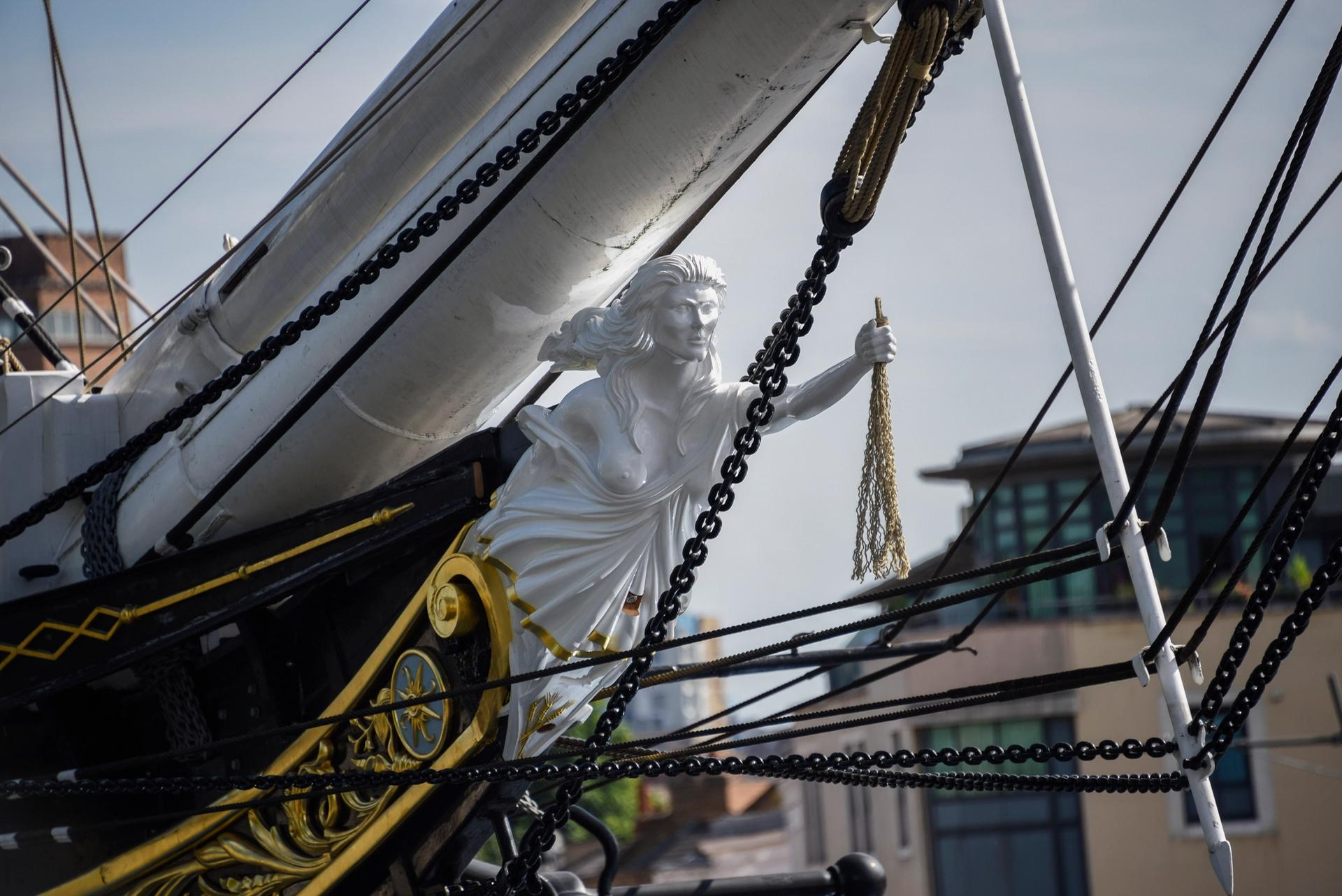 The finished figurehead was fitted to the Cutty Sark last month © National Maritime Museum, London