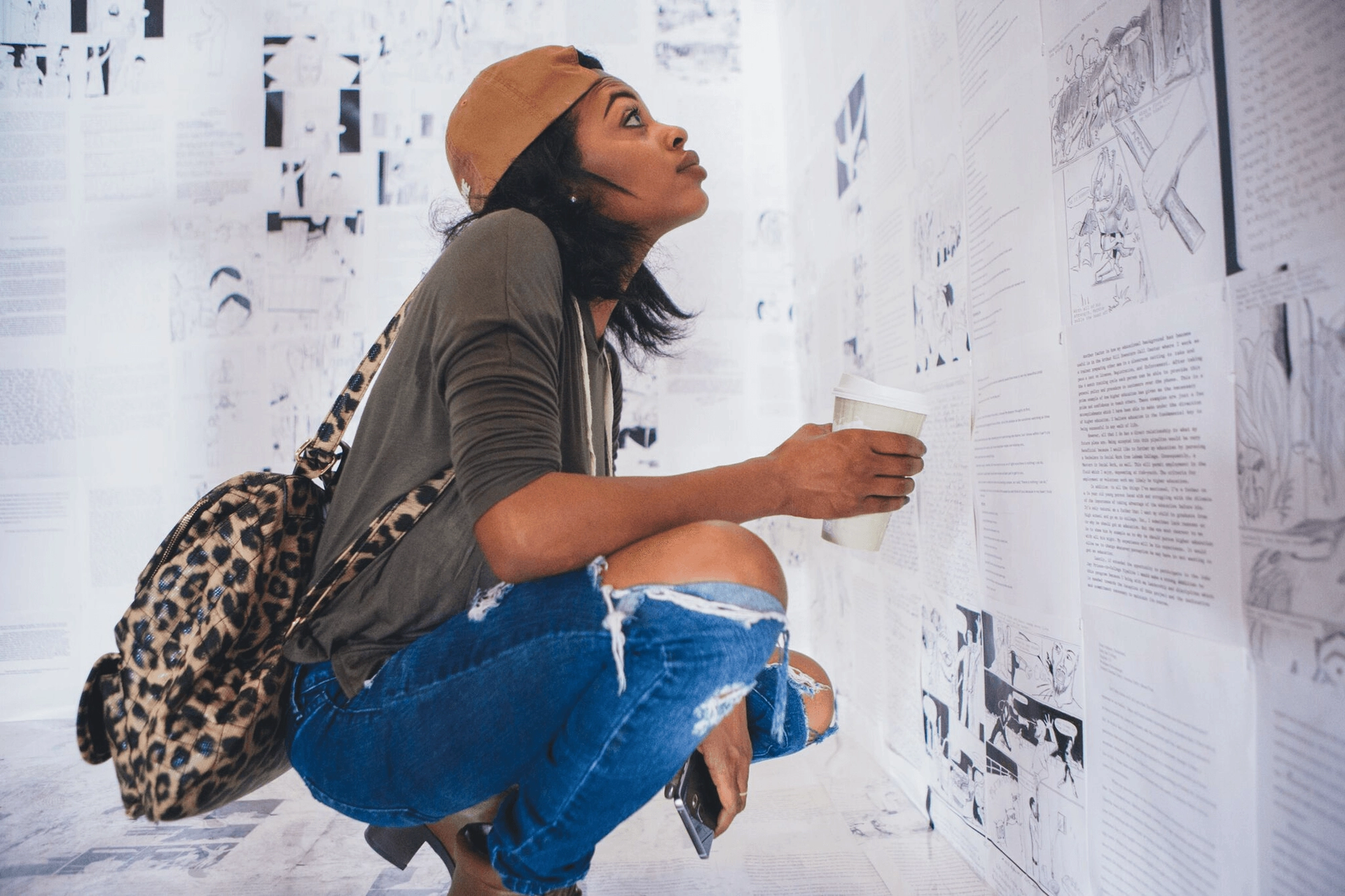 The actress Rosario Dawson views Writing on the Wall by Hank Willis Thomas and Baz Dreisinger when it was shown in New Orleans in 2015 Photo: Patrick Melon
