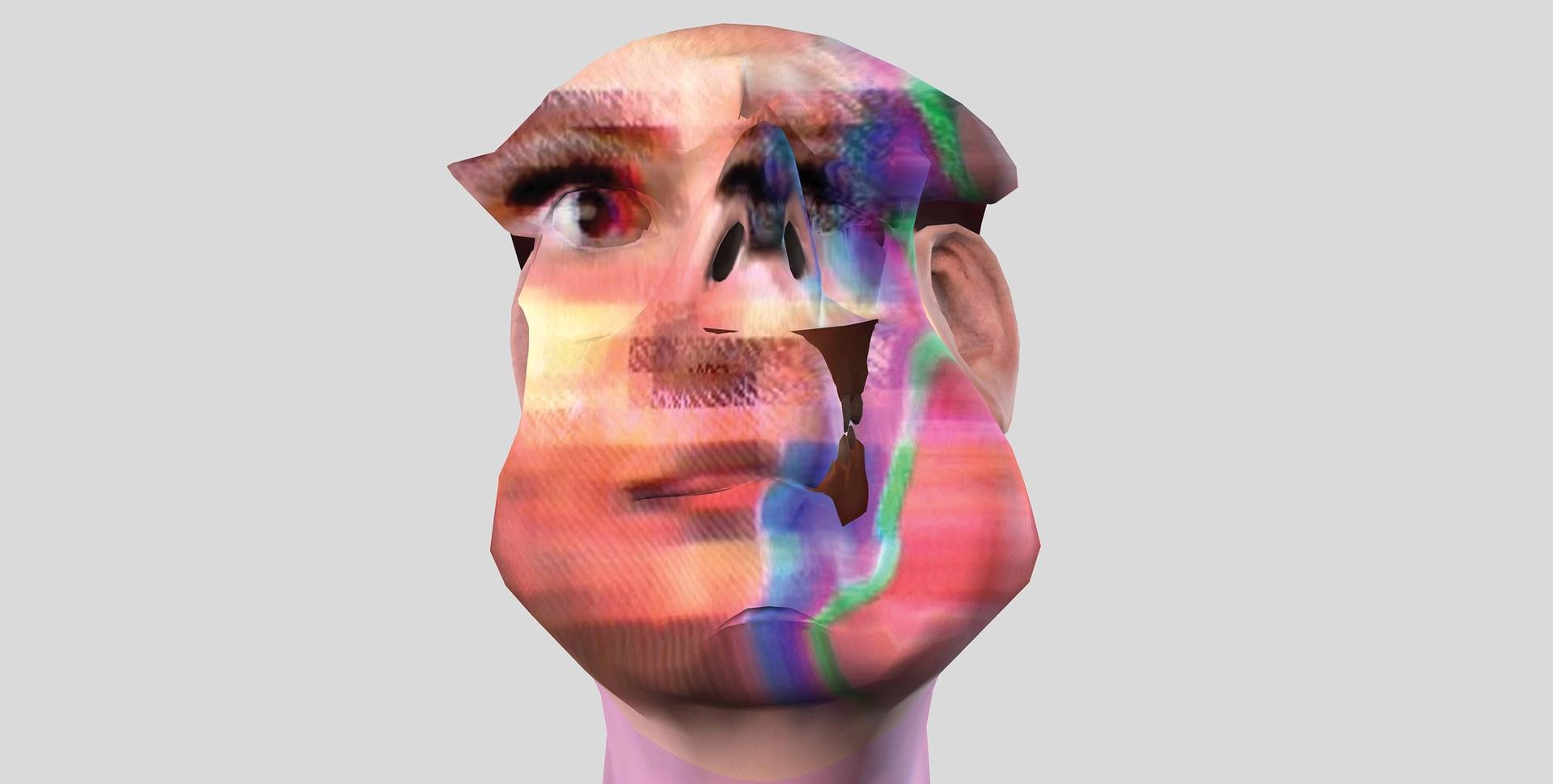 im here to learn so :)))))), created by Zach Blas and Jemima Wyman in 2017, is a four-channel HD video installation that resurrects Microsoft's 2016 AI chatbot, Tay Courtesy Zach Blas and Jemima Wyman