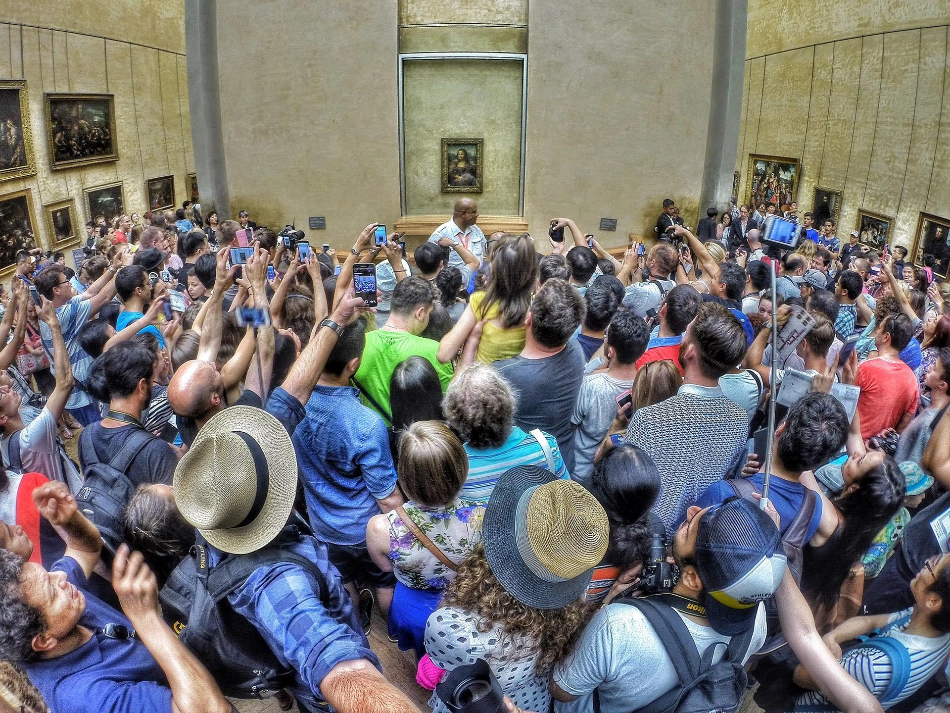 The Louvre reached more than 10 million visitors last year, which equates to 25,000 to 50,000 people a day Photo: Max Fercondini