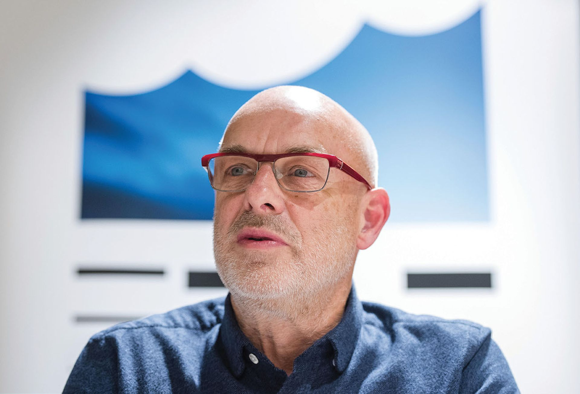 Brian Eno, musician, artist and founder of EarthPercent  Daniel Bockwoldt; DPA picture alliance/Alamy Stock Photo
