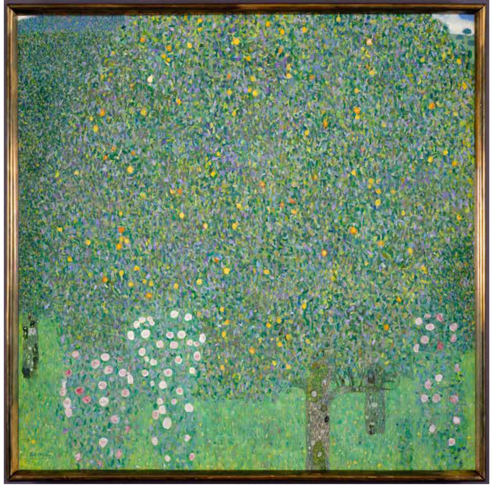 Gustav Klimt, Rosiers sous les arbres Vers (1905), oil on canvas © RMN-Grand Palais (Musée d'Orsay) / Patrice Schmidt