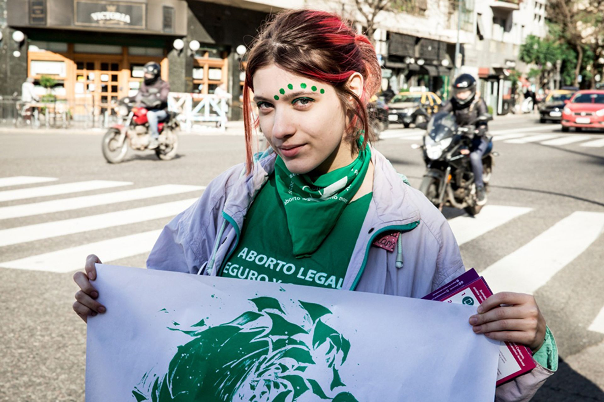 Members of Nosotras Proponemos designed posters to put up around Buenos Aires during the vote on the legalisation of abortion Courtesy of Nora Fisch