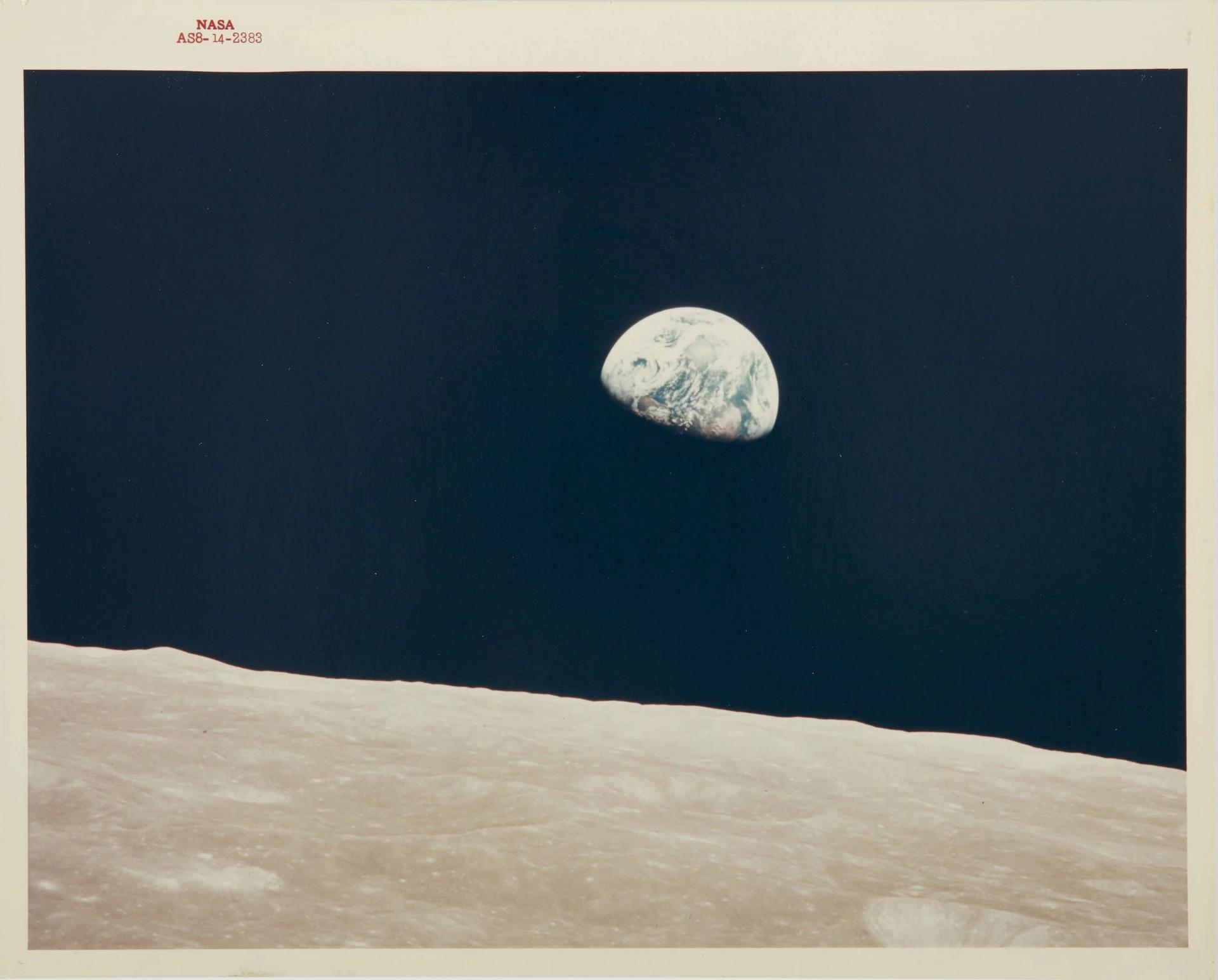 Earthrise, Vintage NASA Red Number Photograph, 24 December 1968, Estimate $3,000-$5,000